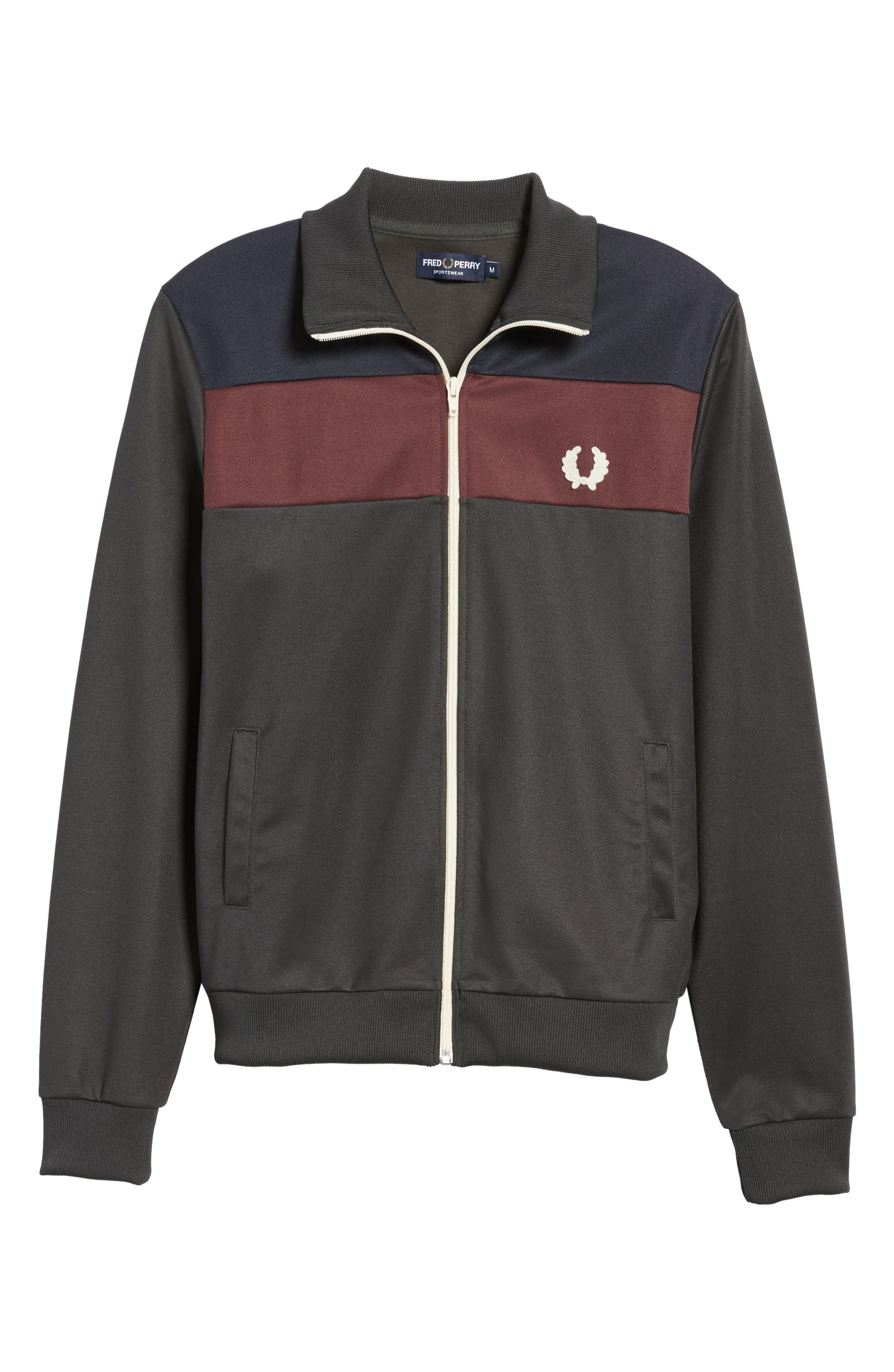 Colorblock Track Jacket,                             Alternate thumbnail 6, color,                             Anthracite