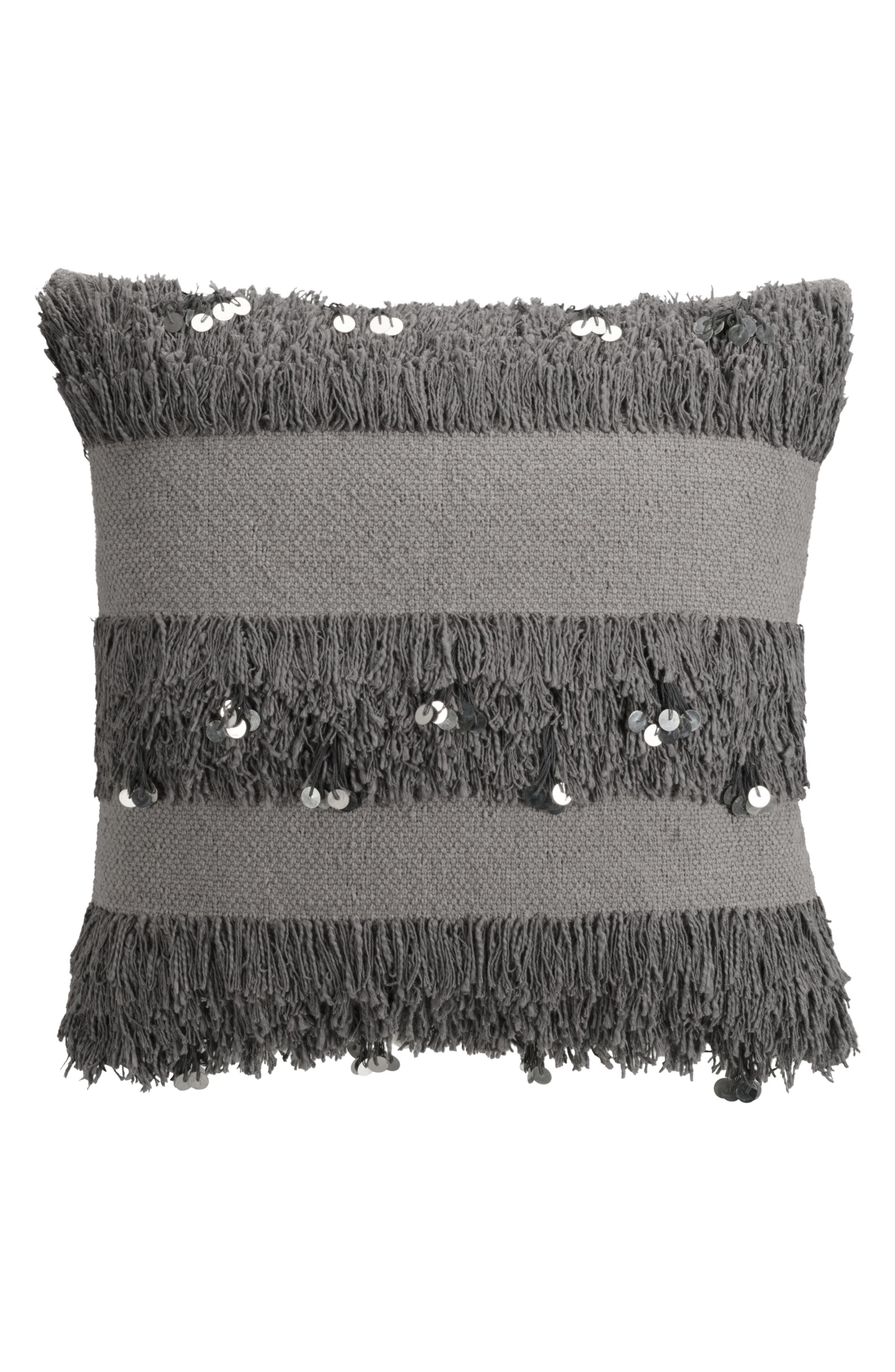 Main Image - cupcakes & cashmere Sequin Fringe Pillow