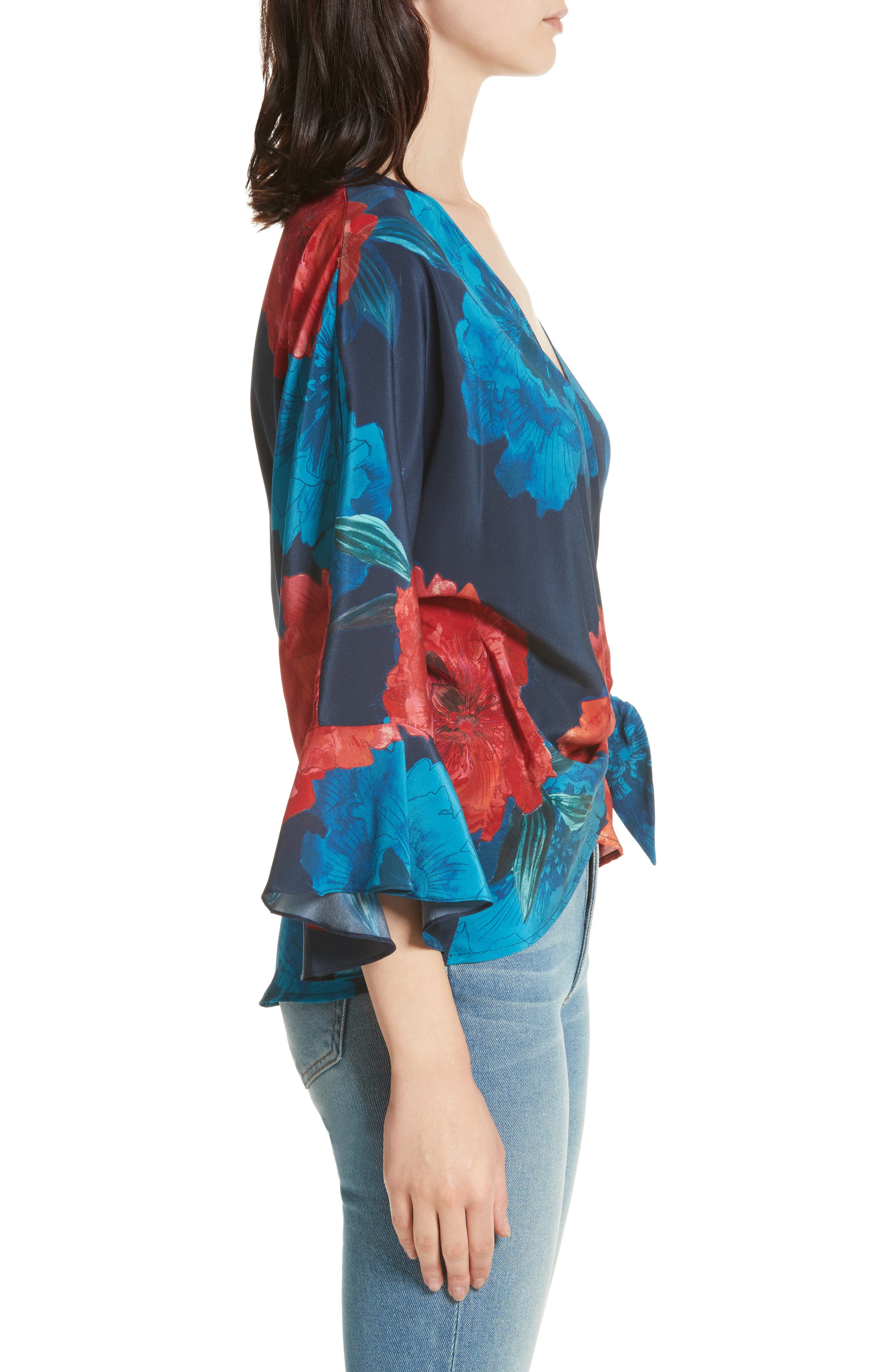 Alternate Image 3  - Tracy Reese Floral Surplice Silk Blouse