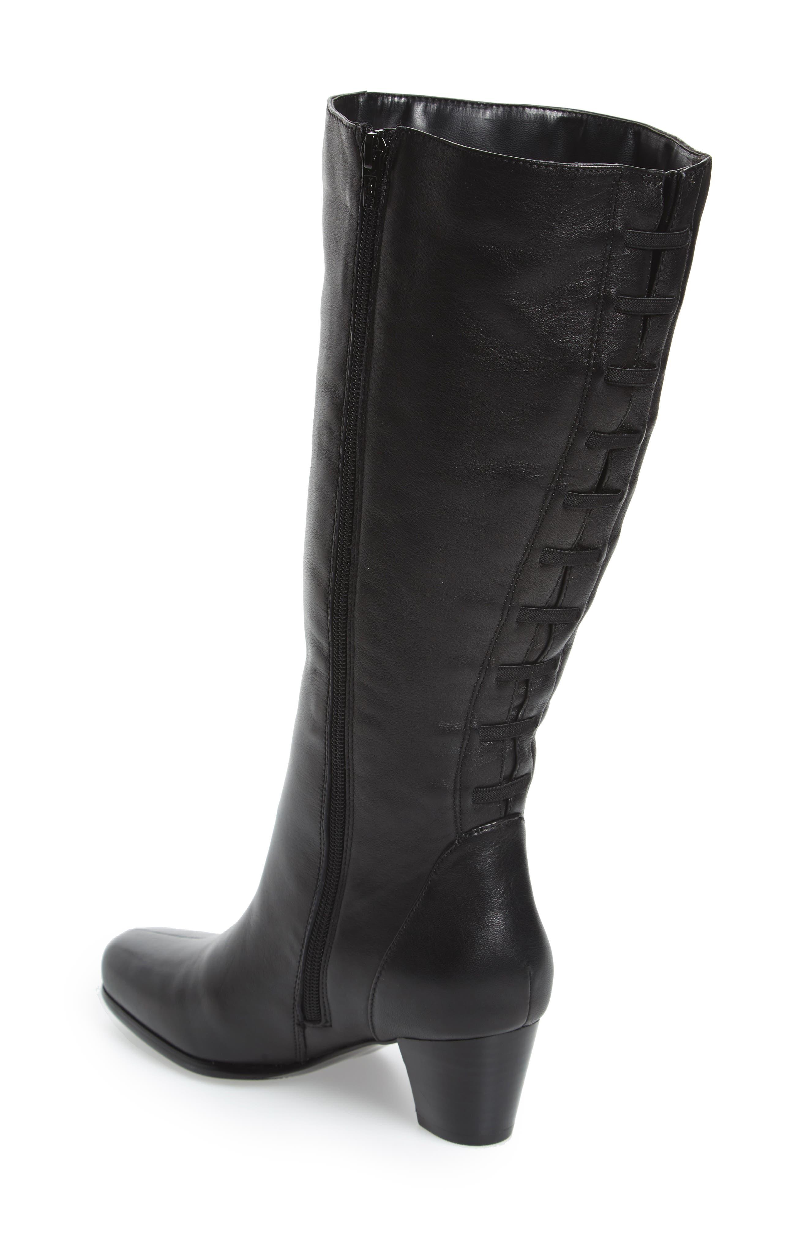 Tacoma 18 Tall Boot,                             Alternate thumbnail 2, color,                             Black Leather