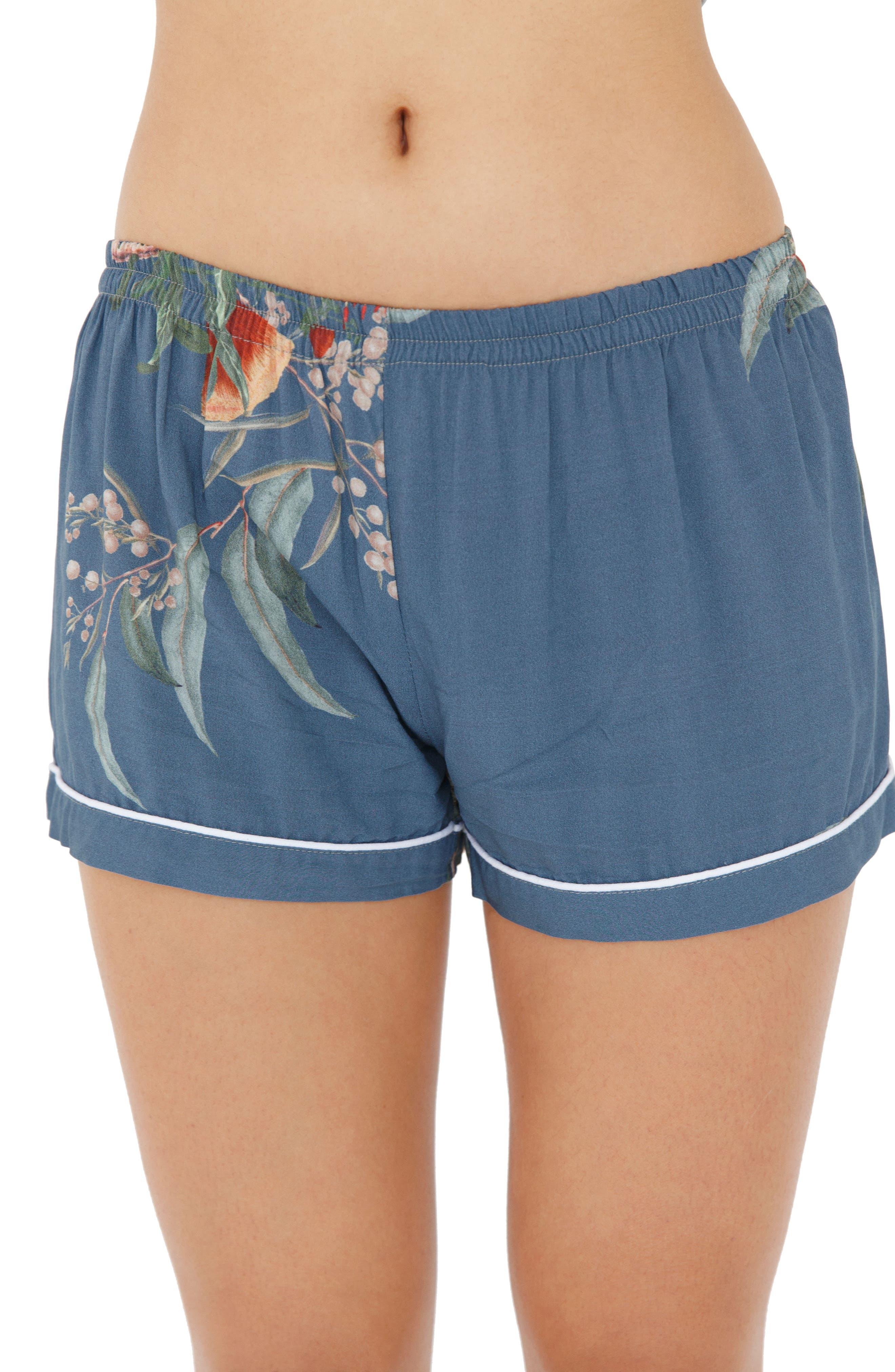 Floral Short Pajamas,                             Alternate thumbnail 2, color,                             Jupiter