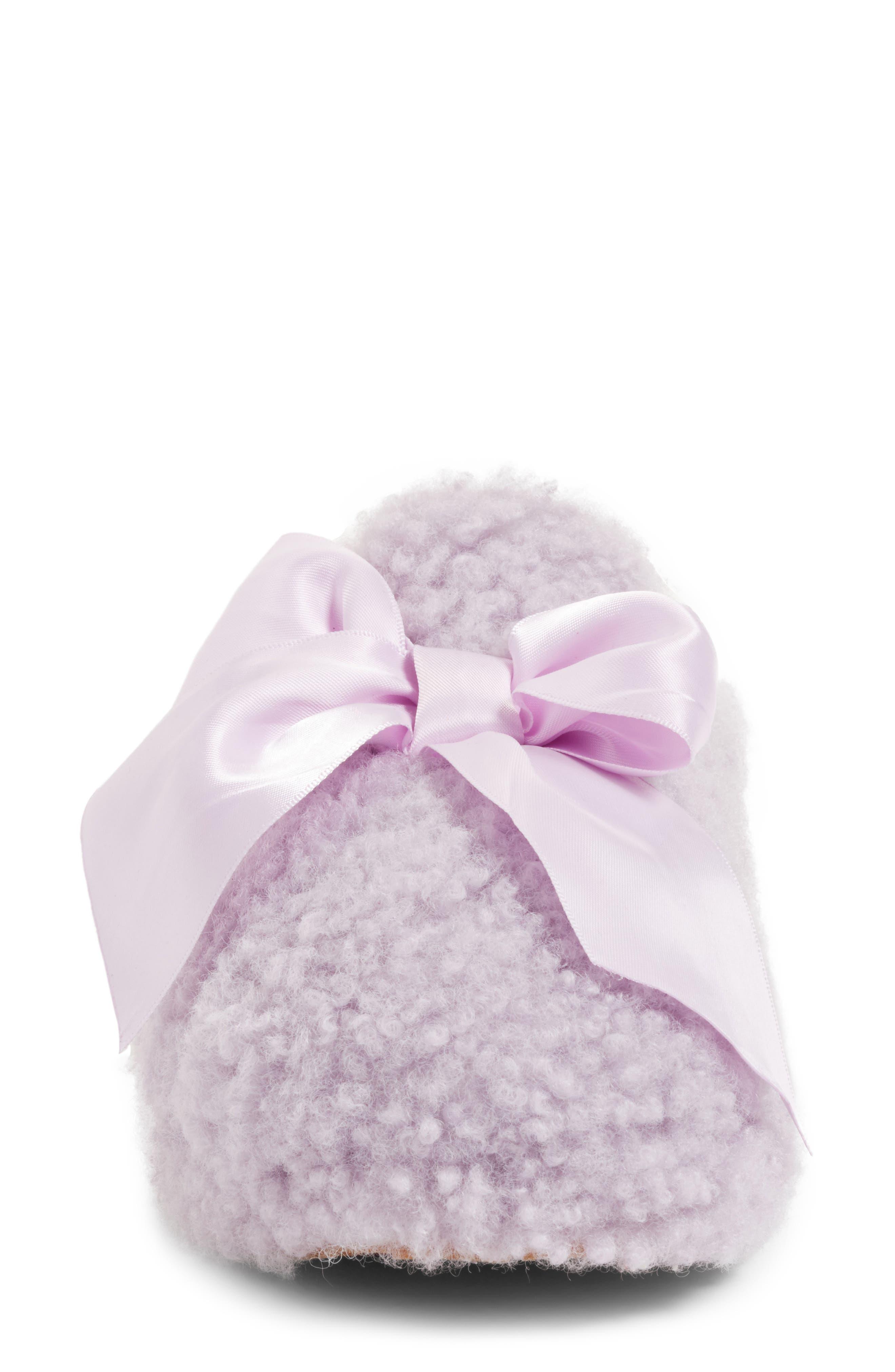 Addison Bow Slipper,                             Alternate thumbnail 4, color,                             Lavender Fog