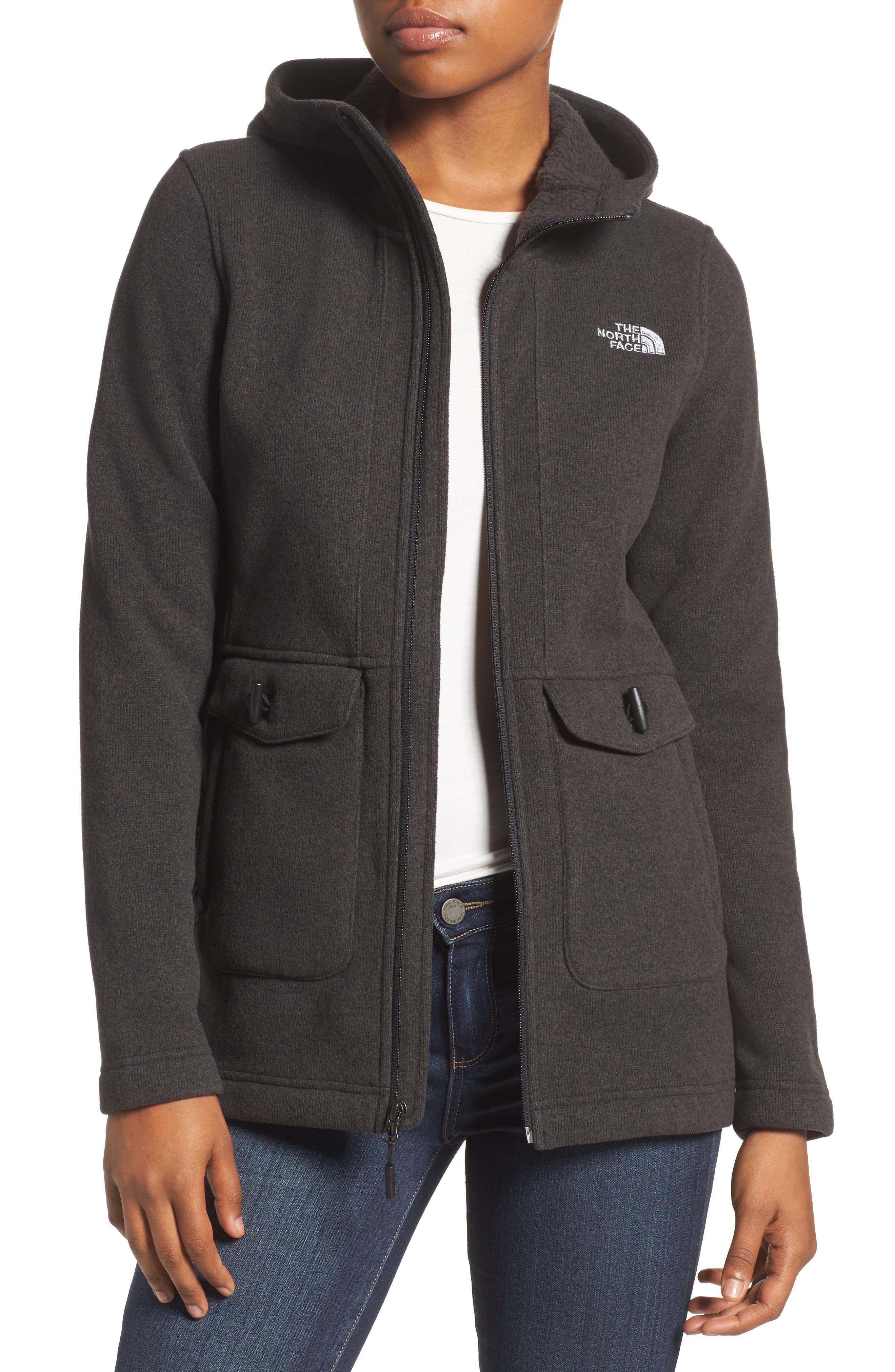 Crescent Parka Fleece,                         Main,                         color, Tnf Black Heather
