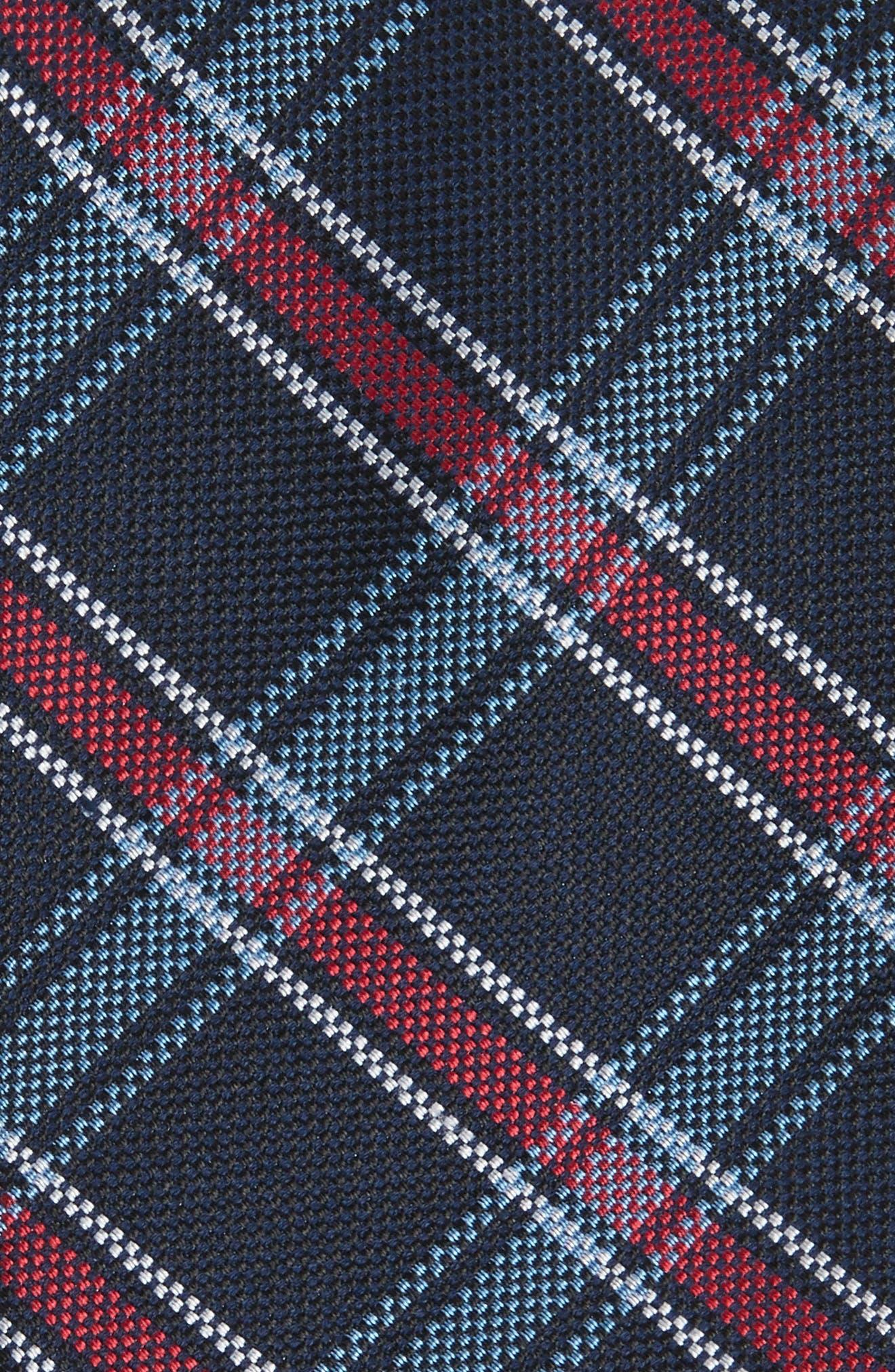 Alternate Image 2  - Nordstrom Men's Shop Oxford Plaid Silk Tie