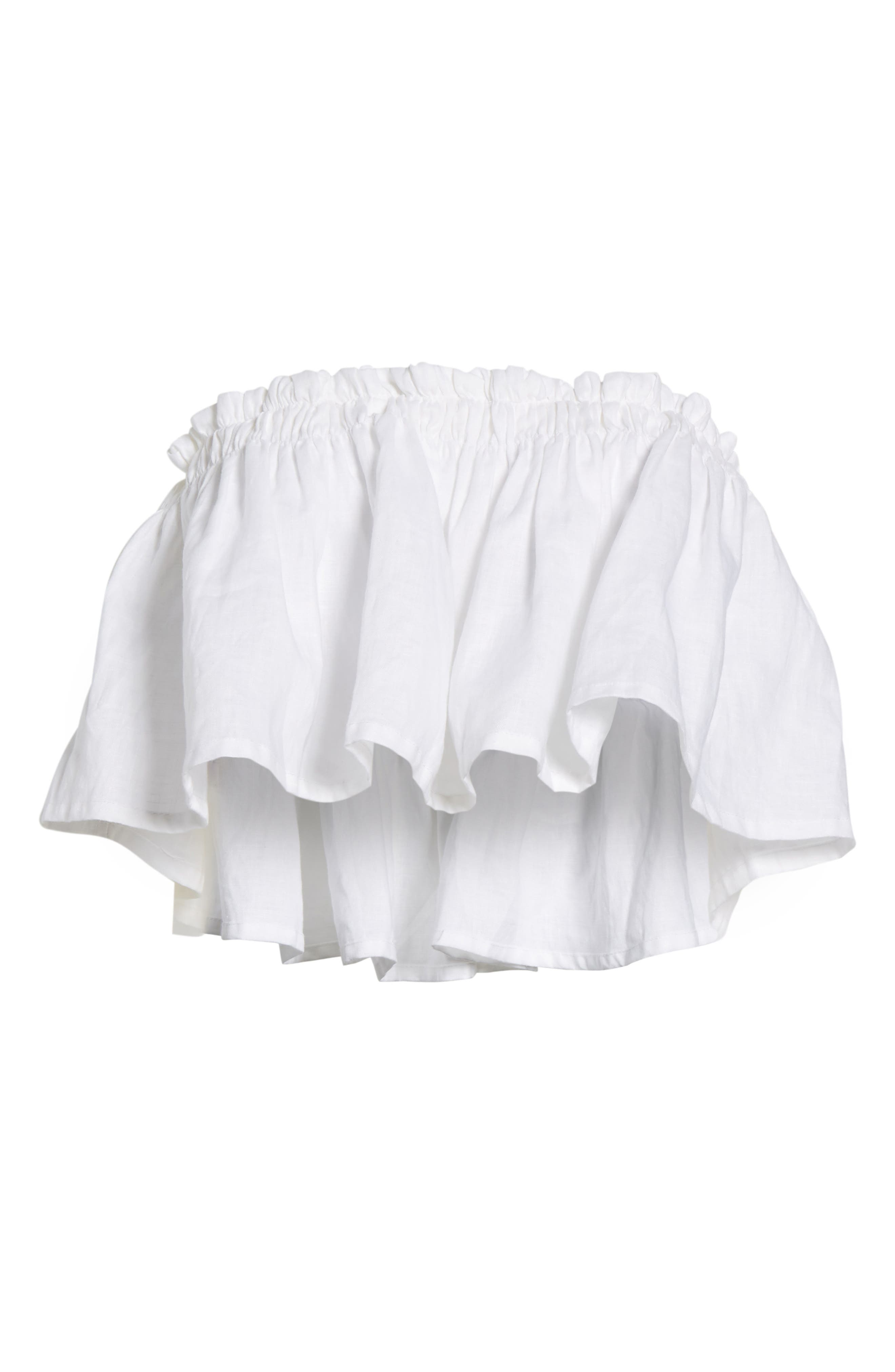 Alternate Image 9  - FAITHFULL THE BRAND Pietro Cinched Linen Crop Top
