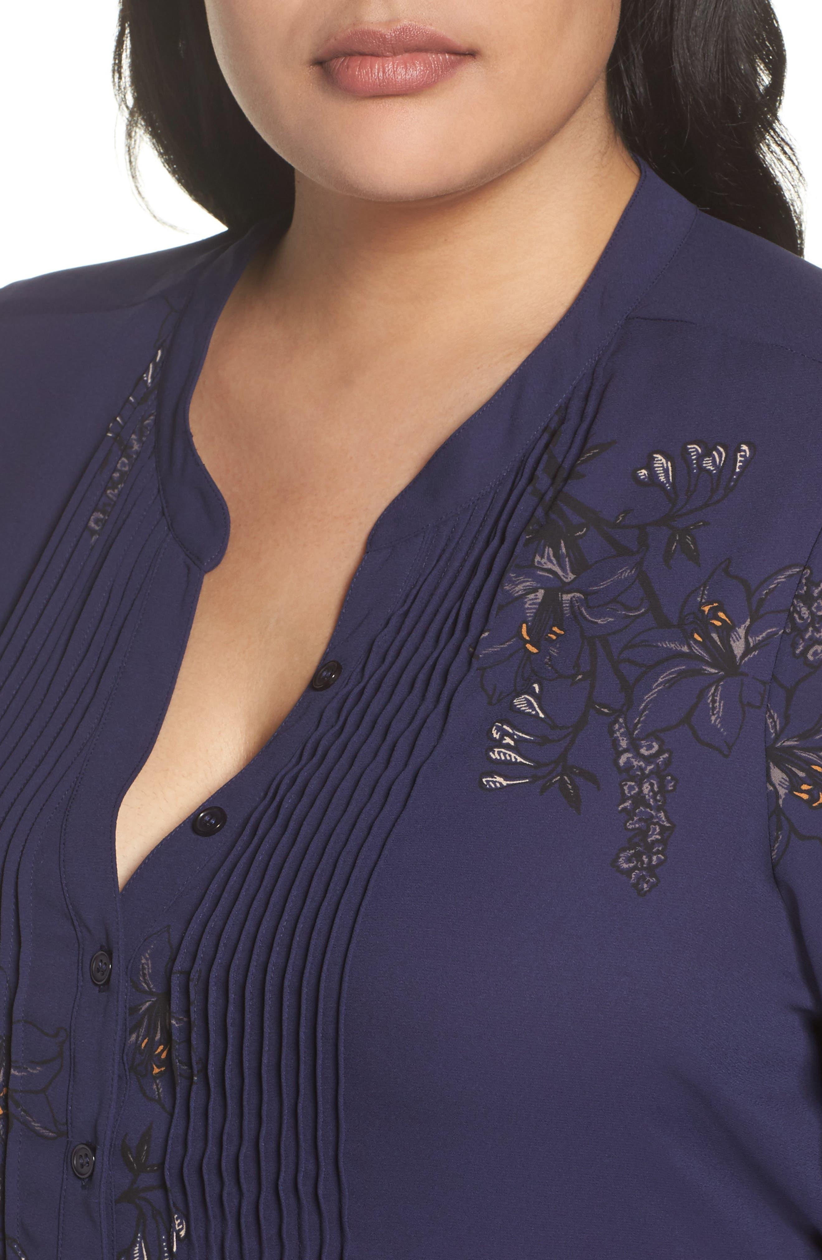 Alternate Image 4  - Melissa McCarthy Seven7 Classic Pintuck Shirt (Plus Size)