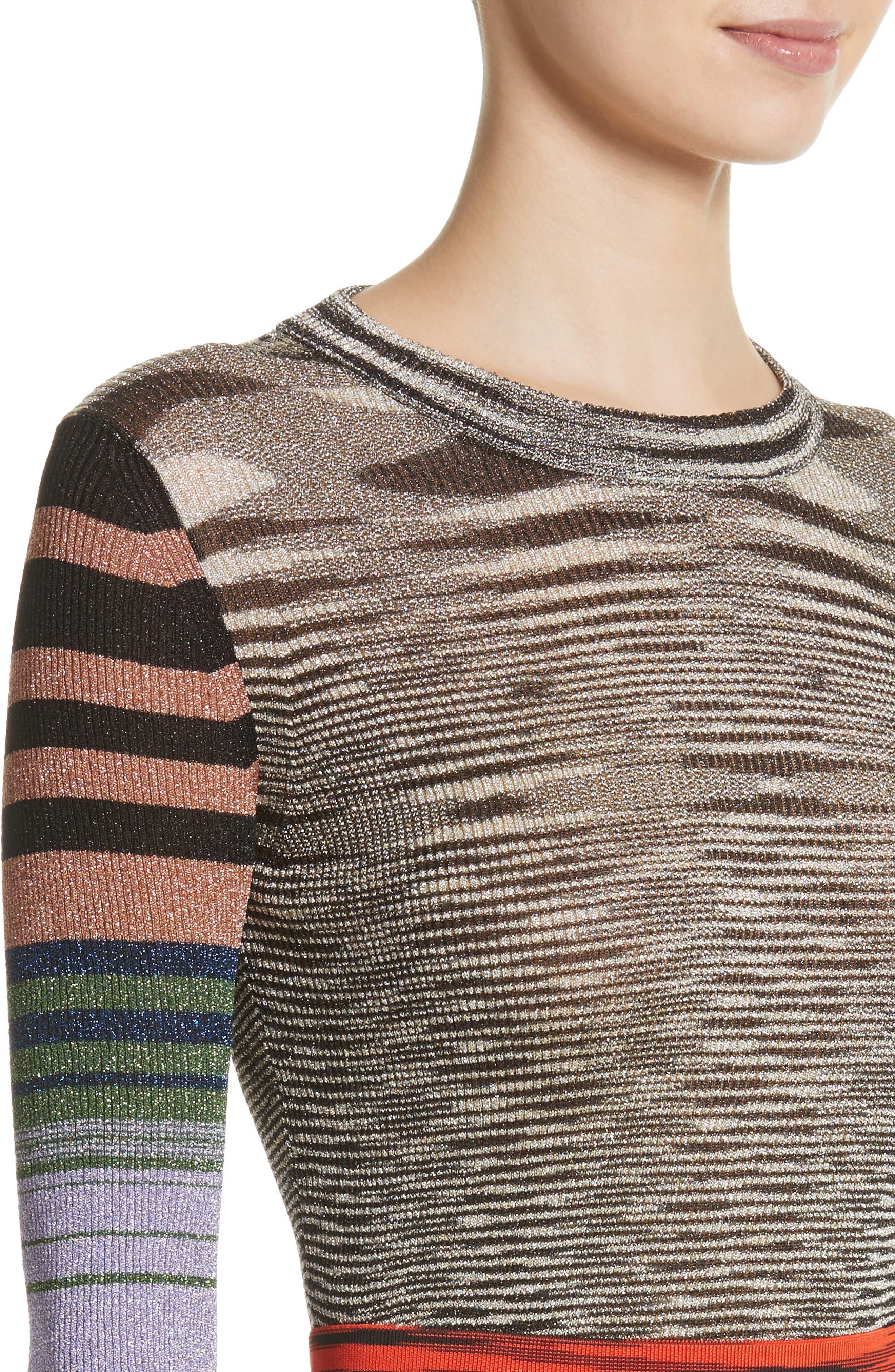 Metallic Space Dye Knit Sweater,                             Alternate thumbnail 4, color,                             Multi