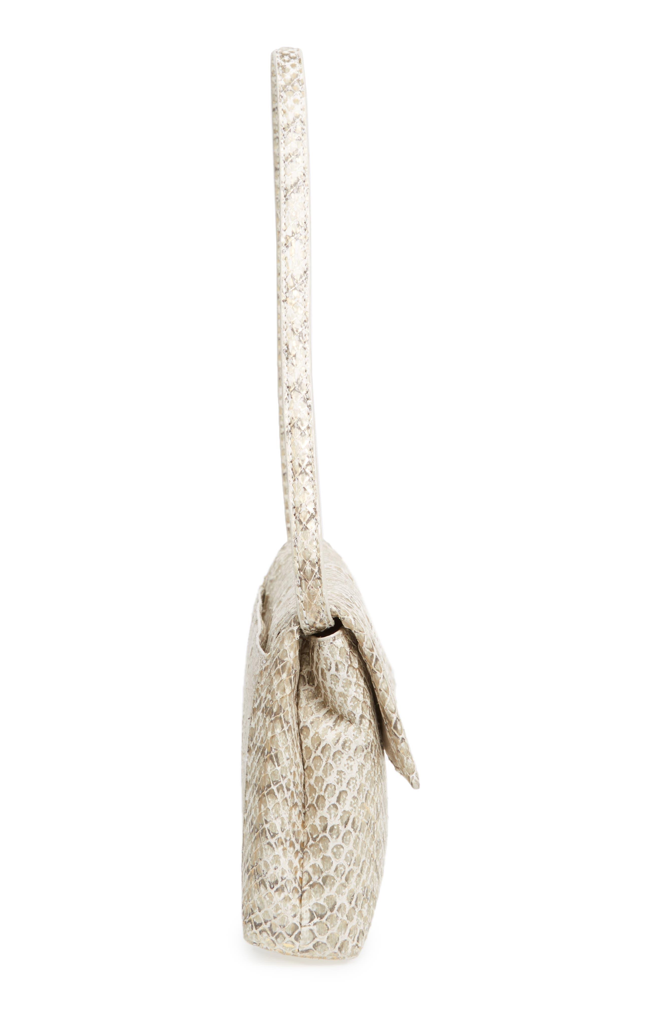 Alternate Image 5  - Nancy Gonzalez Gotham Genuine Snakeskin Metallic Clutch