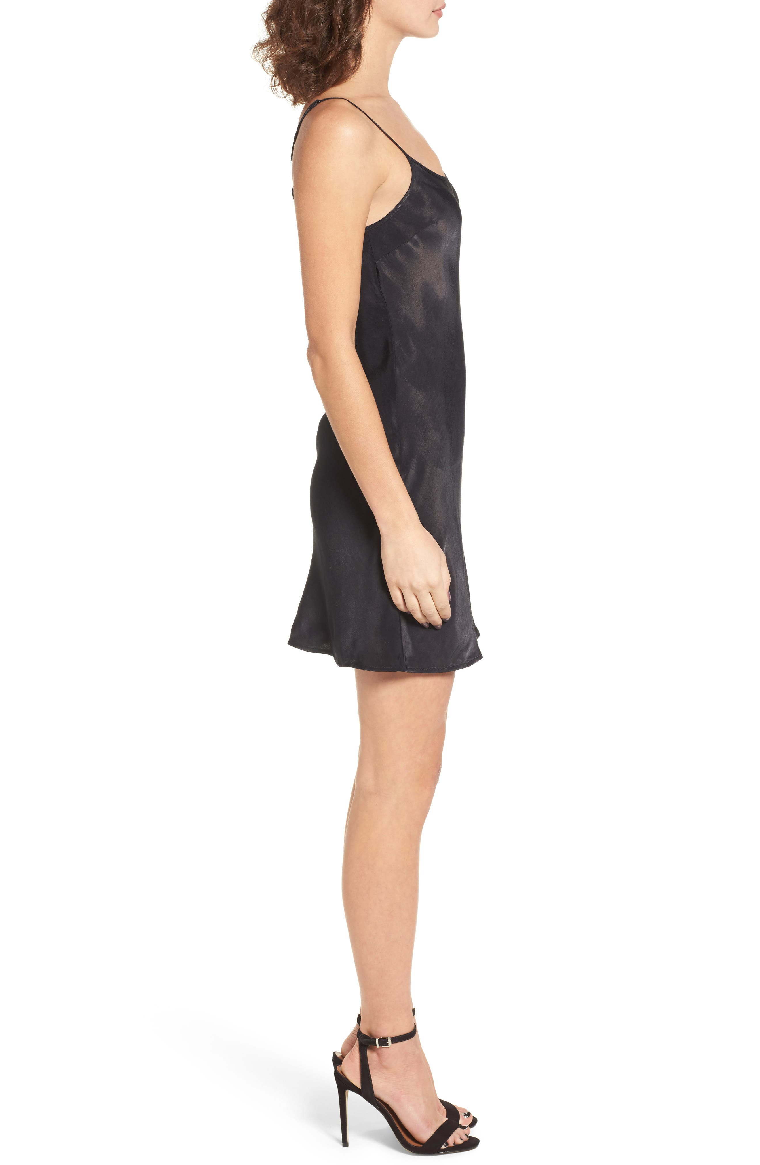 La Cienega Slipdress,                             Alternate thumbnail 3, color,                             Onyx