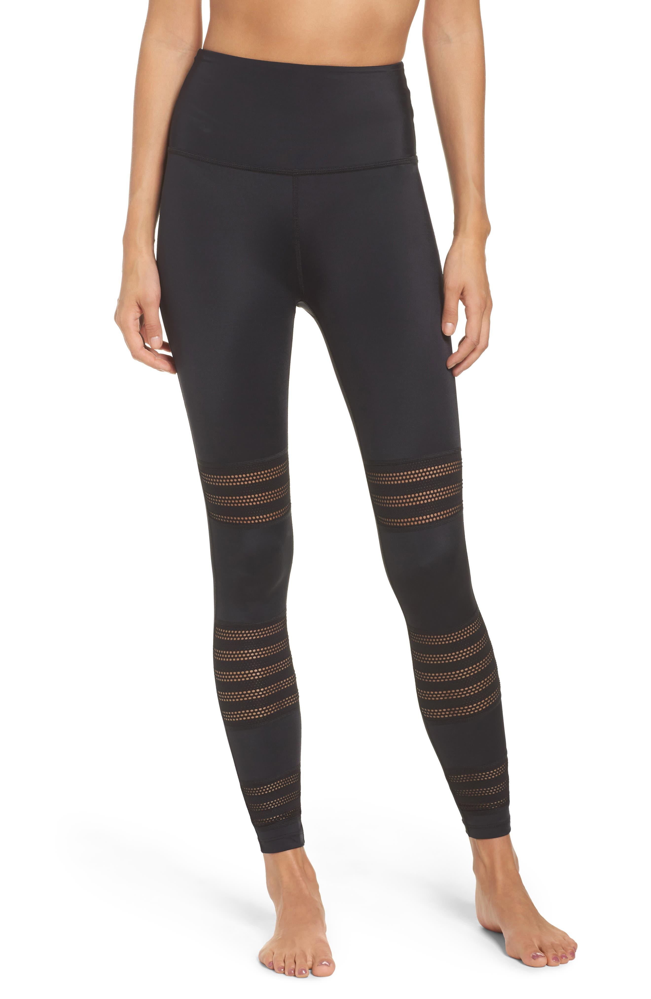 Main Image - Beyond Yoga Mesh to Impress High Waist Leggings