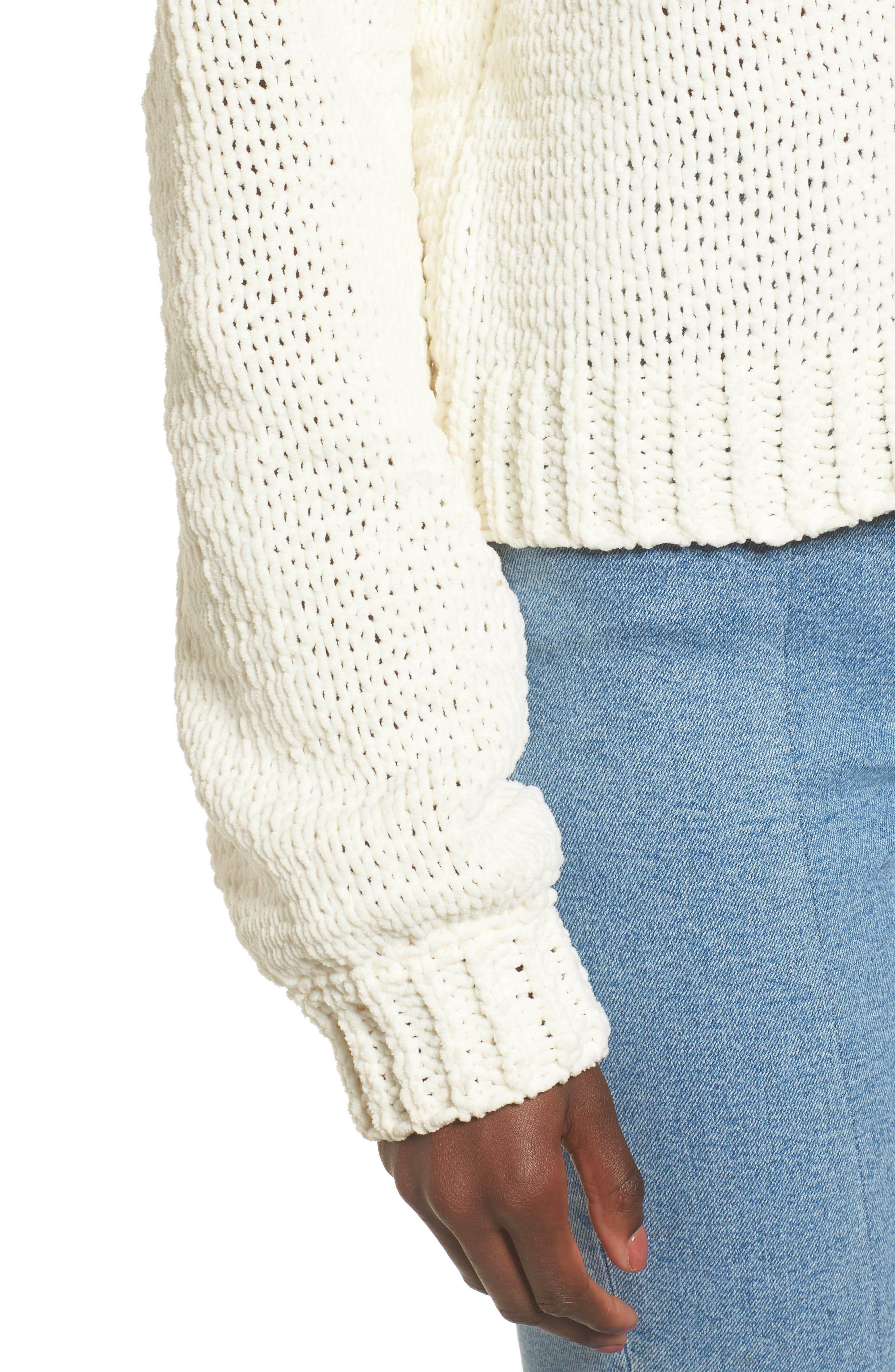 Strappy Sweater,                             Alternate thumbnail 5, color,                             Ivory