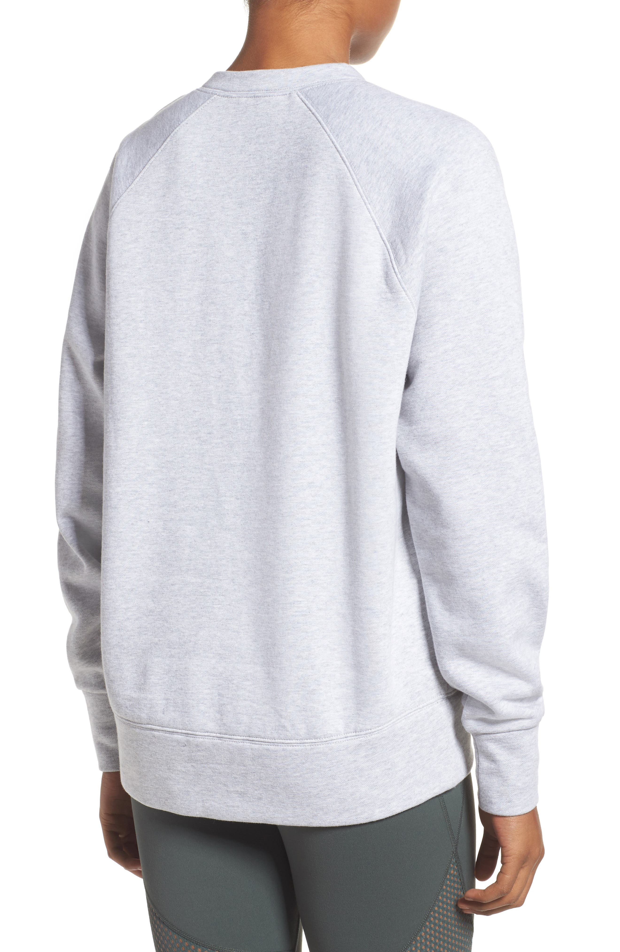 Lace-Up Pullover,                             Alternate thumbnail 2, color,                             Grey Ash Heather