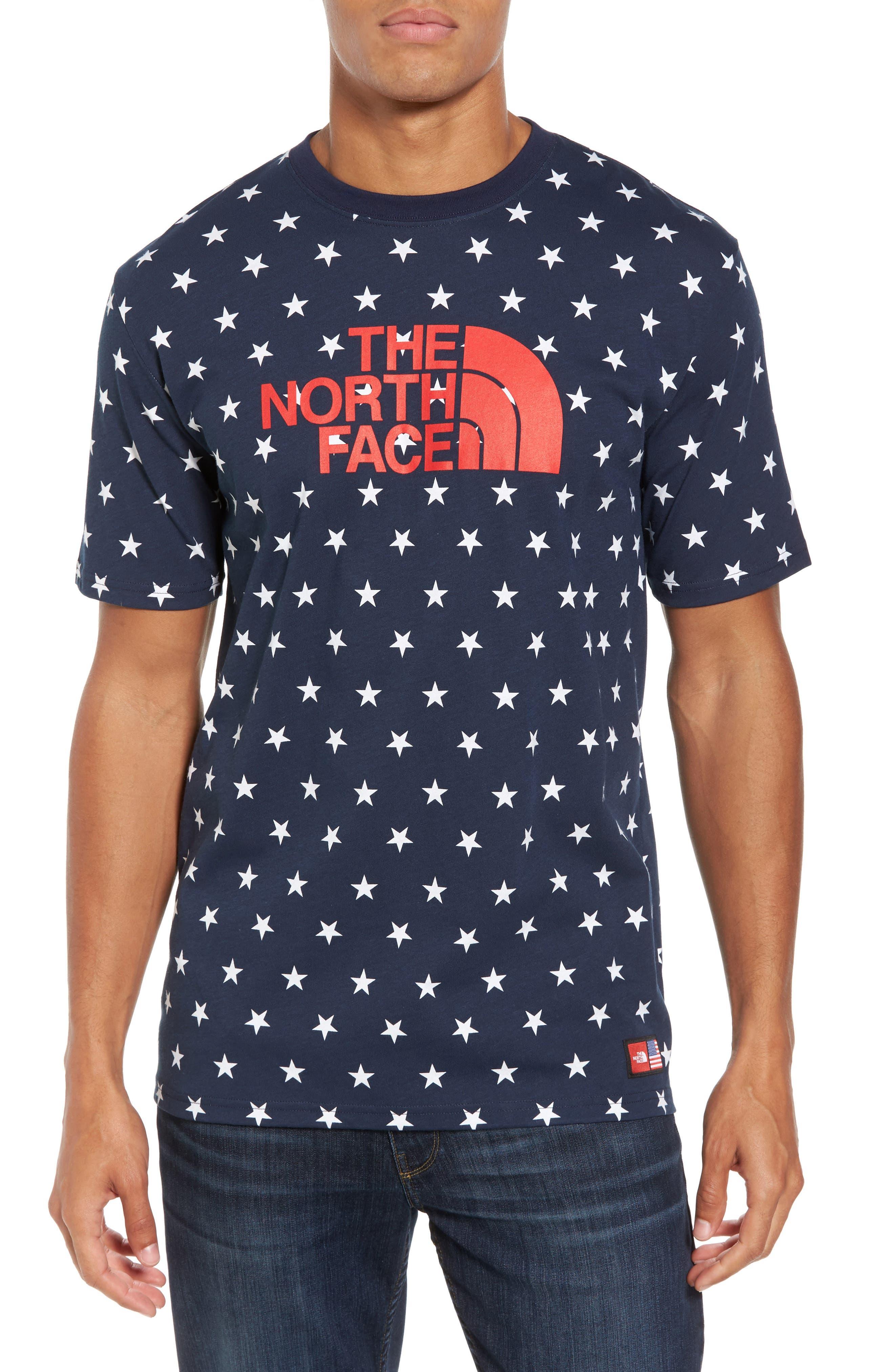 International Collection Star Print T-Shirt,                             Main thumbnail 1, color,                             Cosmic Blue Star Print