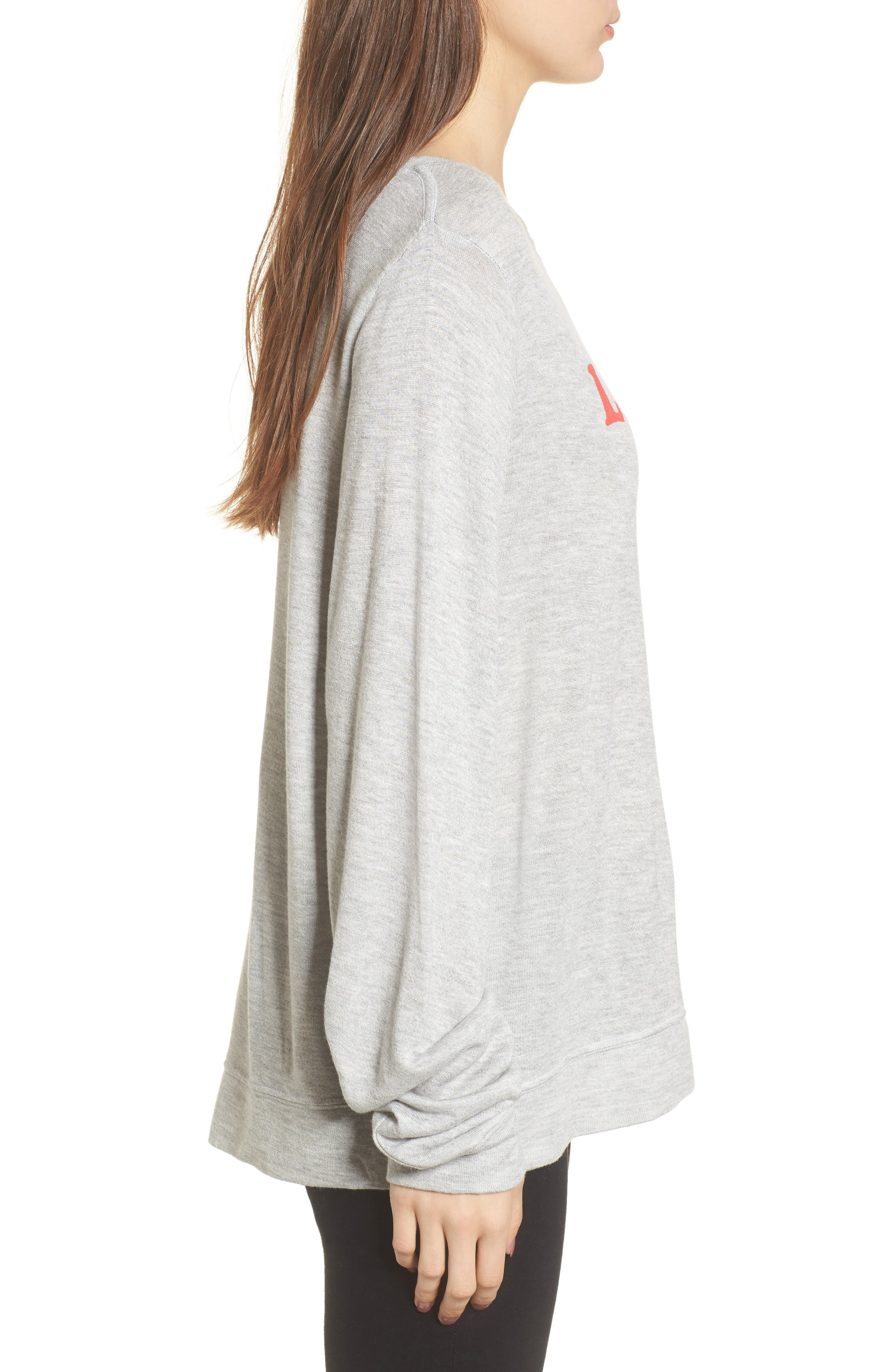 Alternate Image 3  - Wildfox Loved Sweatshirt