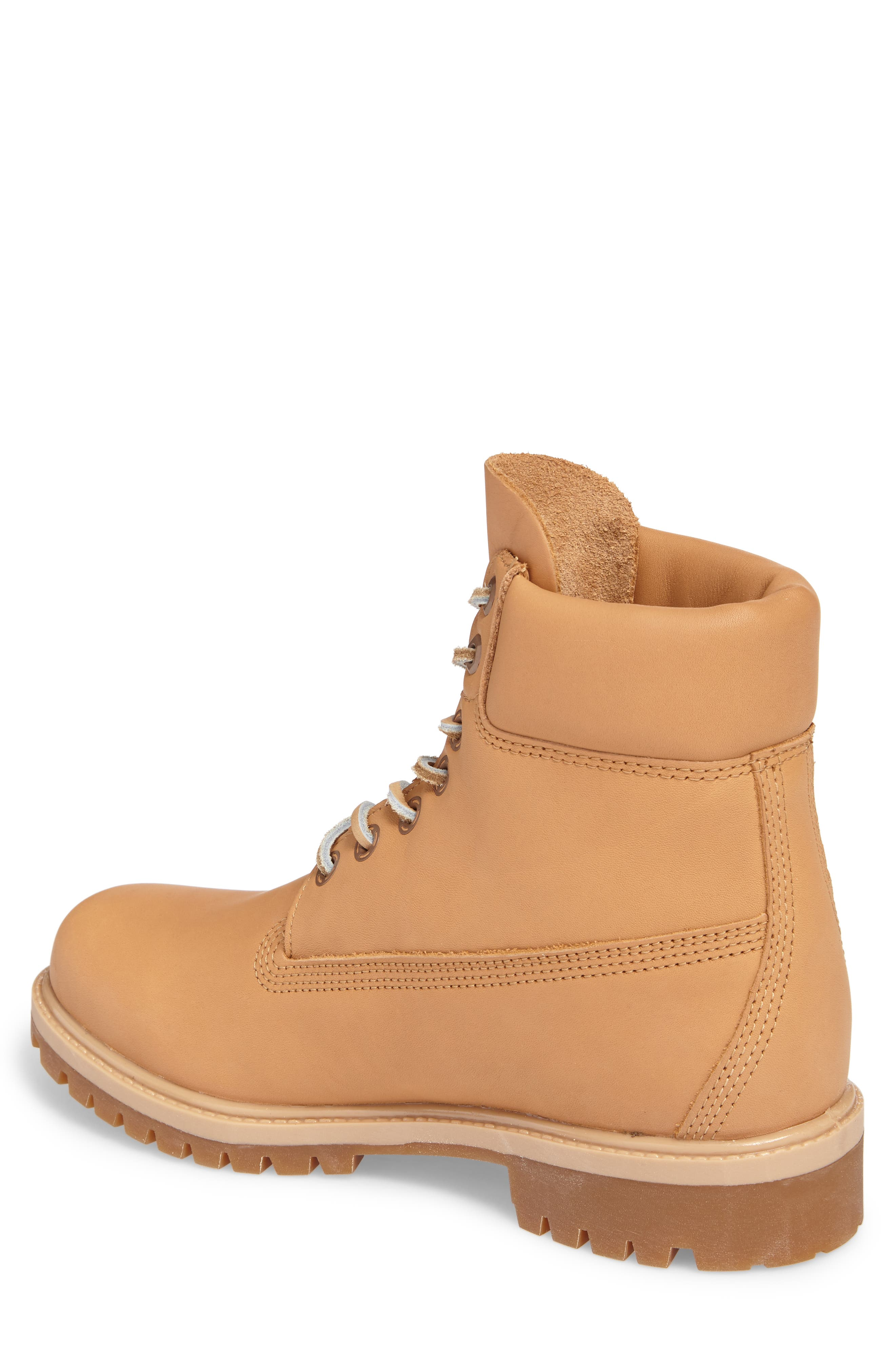 Premium Waterproof Plain Toe Boot,                             Alternate thumbnail 2, color,                             Natural Leather