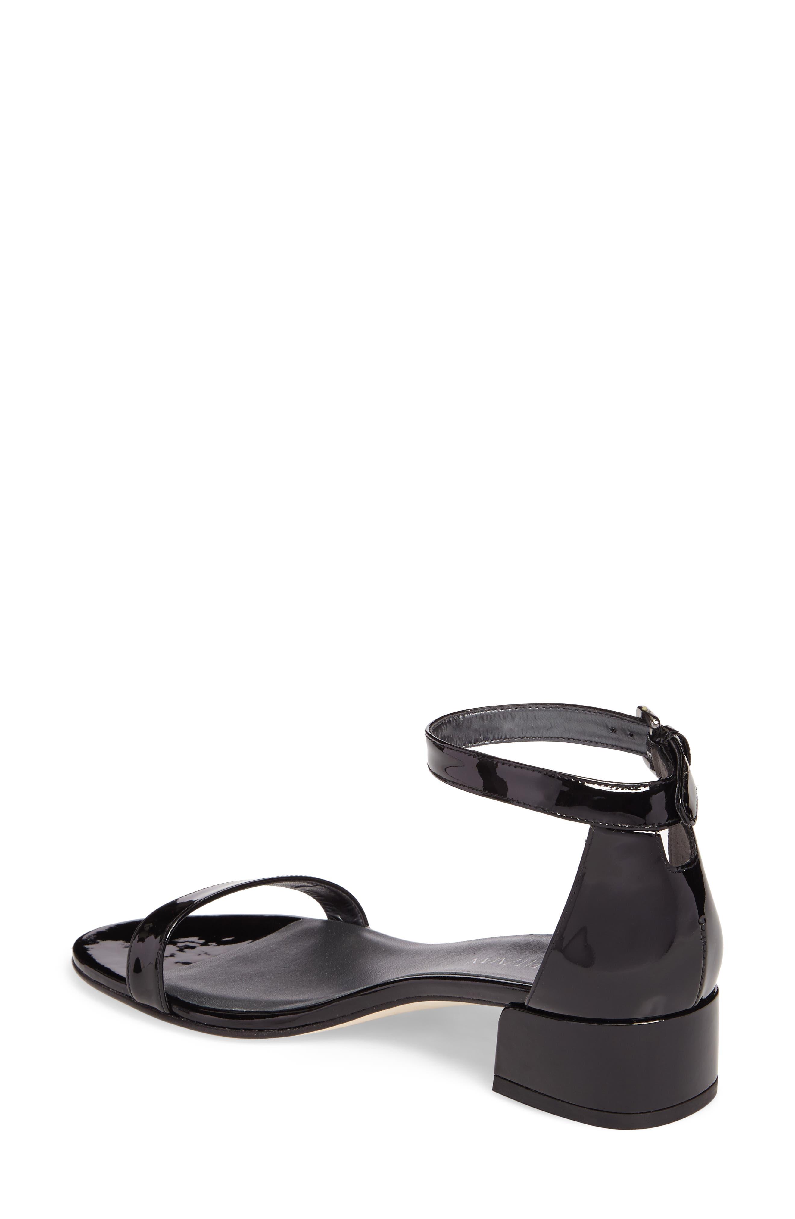 NudistJune Block Heel Sandal,                             Alternate thumbnail 2, color,                             Black Patent