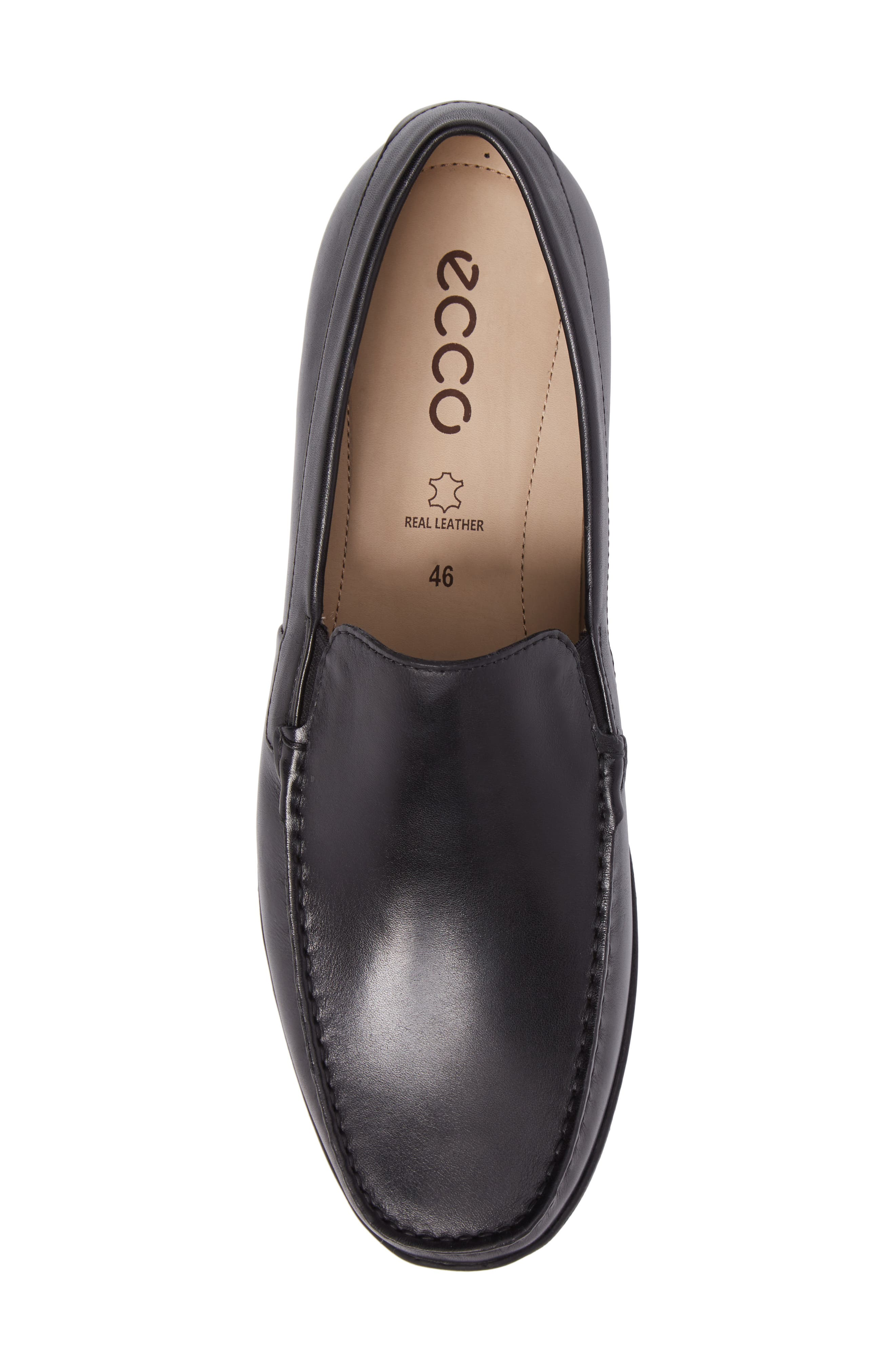Classic Loafer,                             Alternate thumbnail 5, color,                             Black Leather