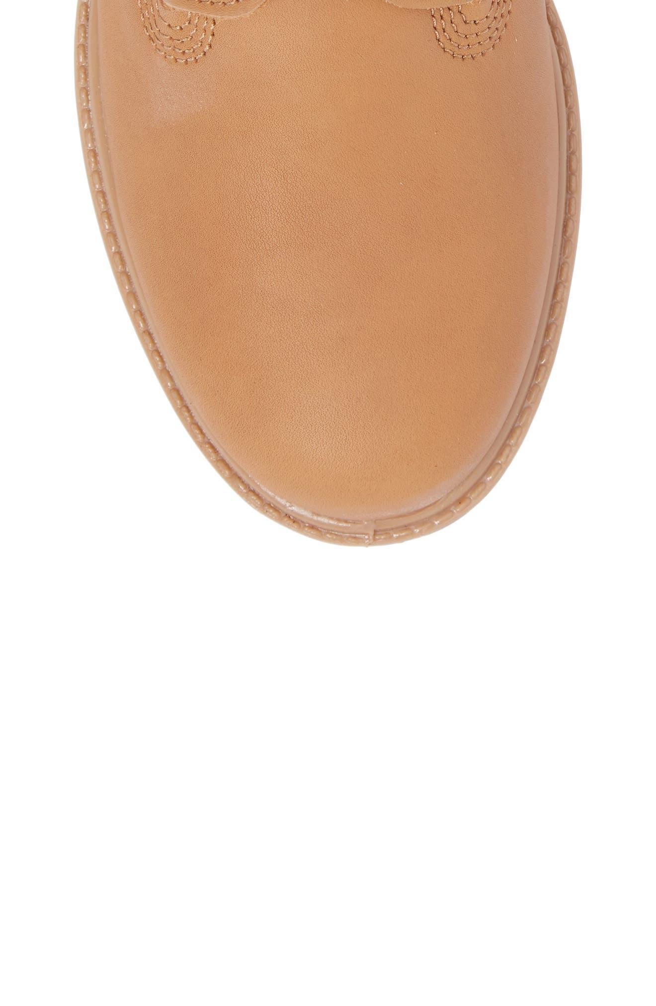 Premium Waterproof Plain Toe Boot,                             Alternate thumbnail 5, color,                             Natural Leather