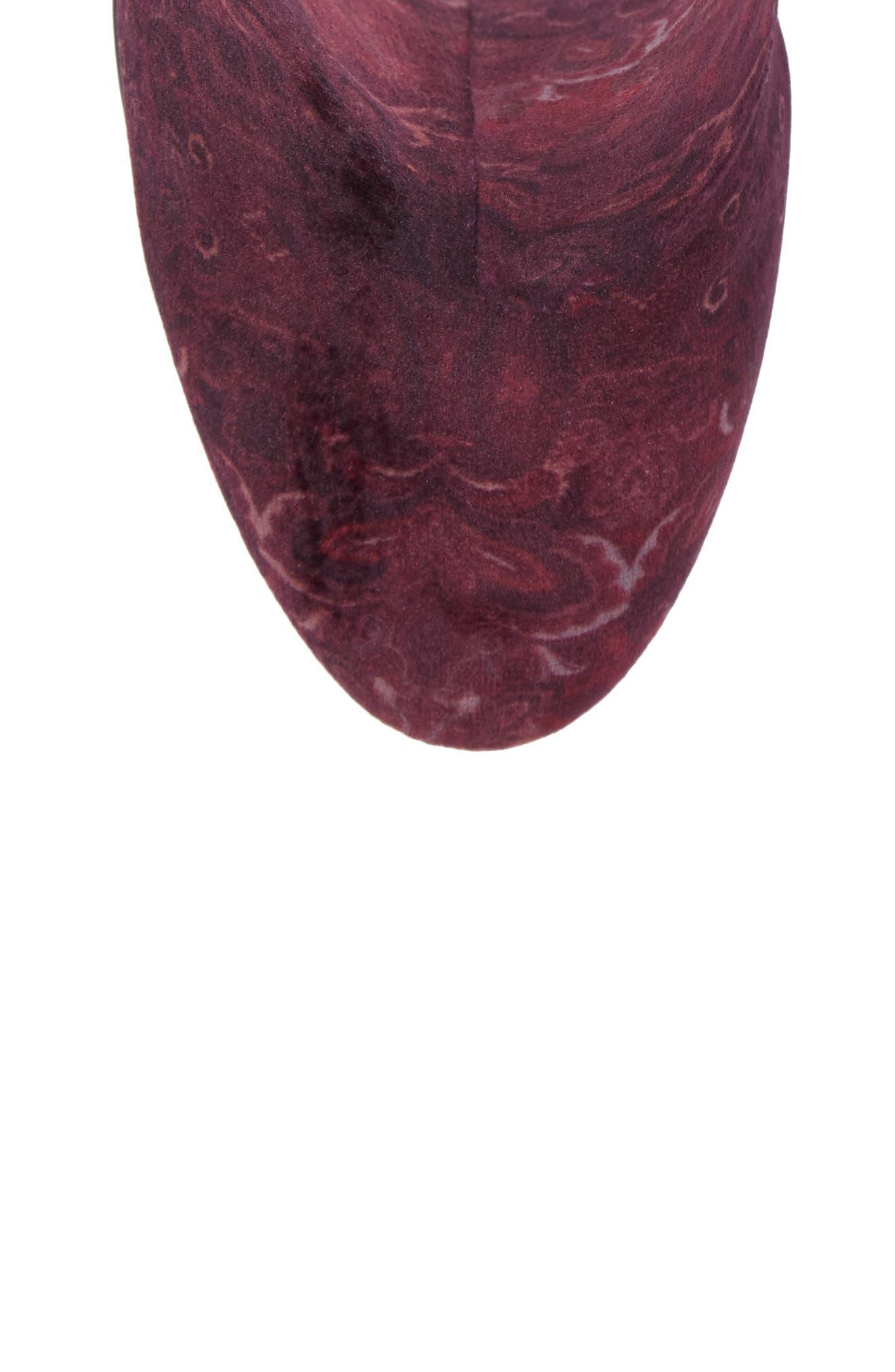 Fedora Bootie,                             Alternate thumbnail 5, color,                             Bordeaux Velvet