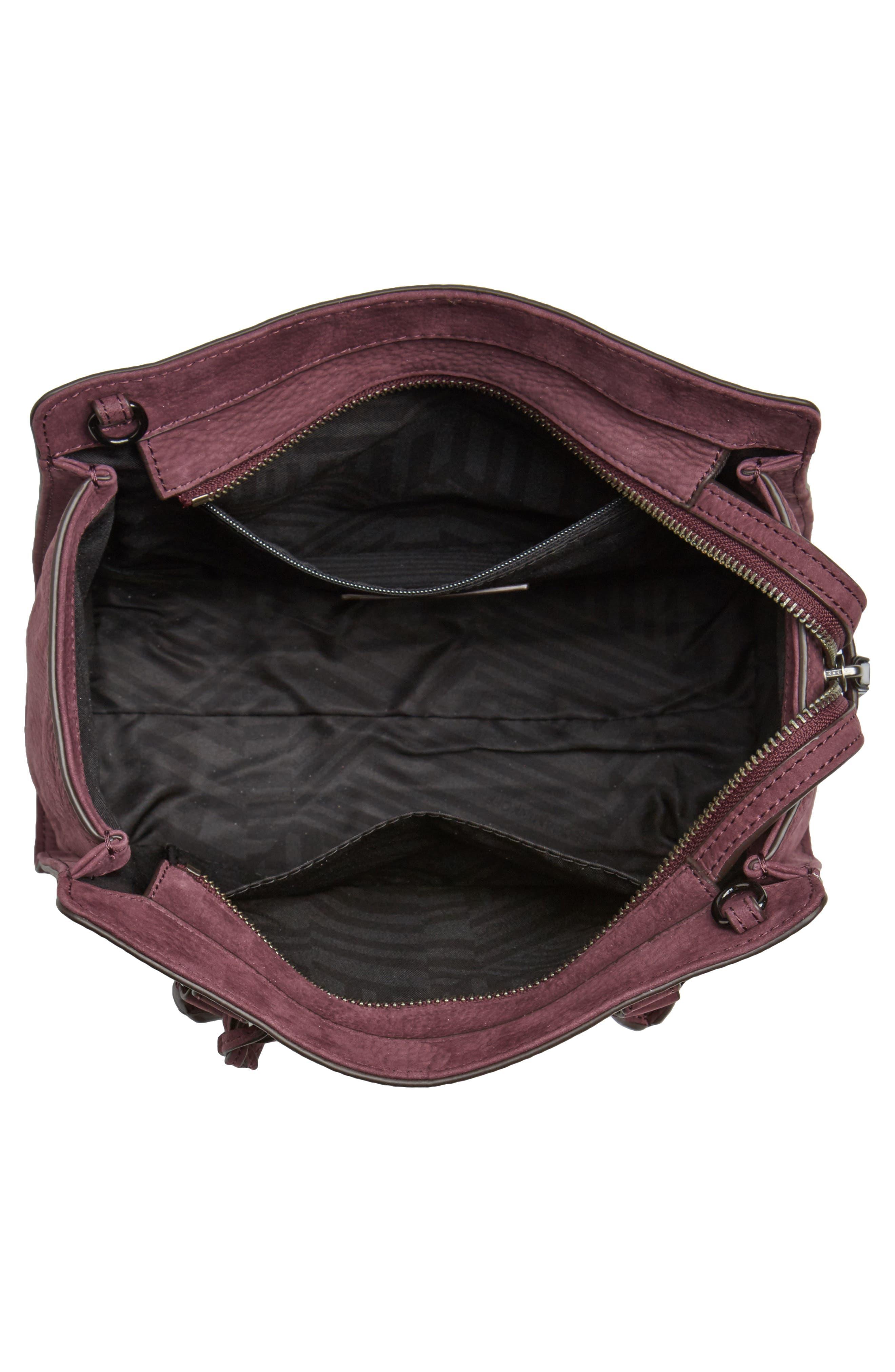 Small Jamie Leather Satchel,                             Alternate thumbnail 2, color,                             Dark Cherry