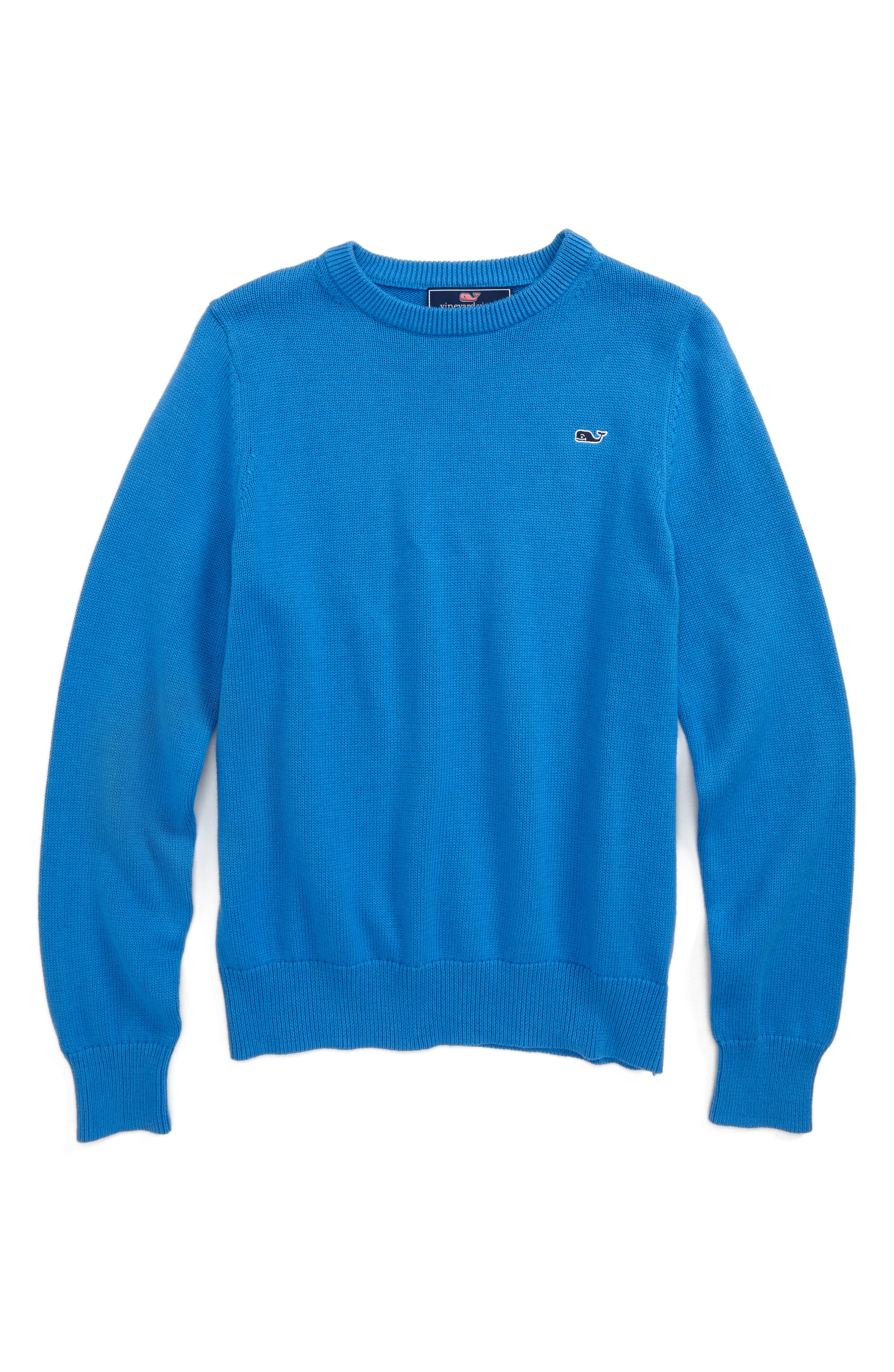 Classic Crewneck Sweater,                         Main,                         color, Hull Blue
