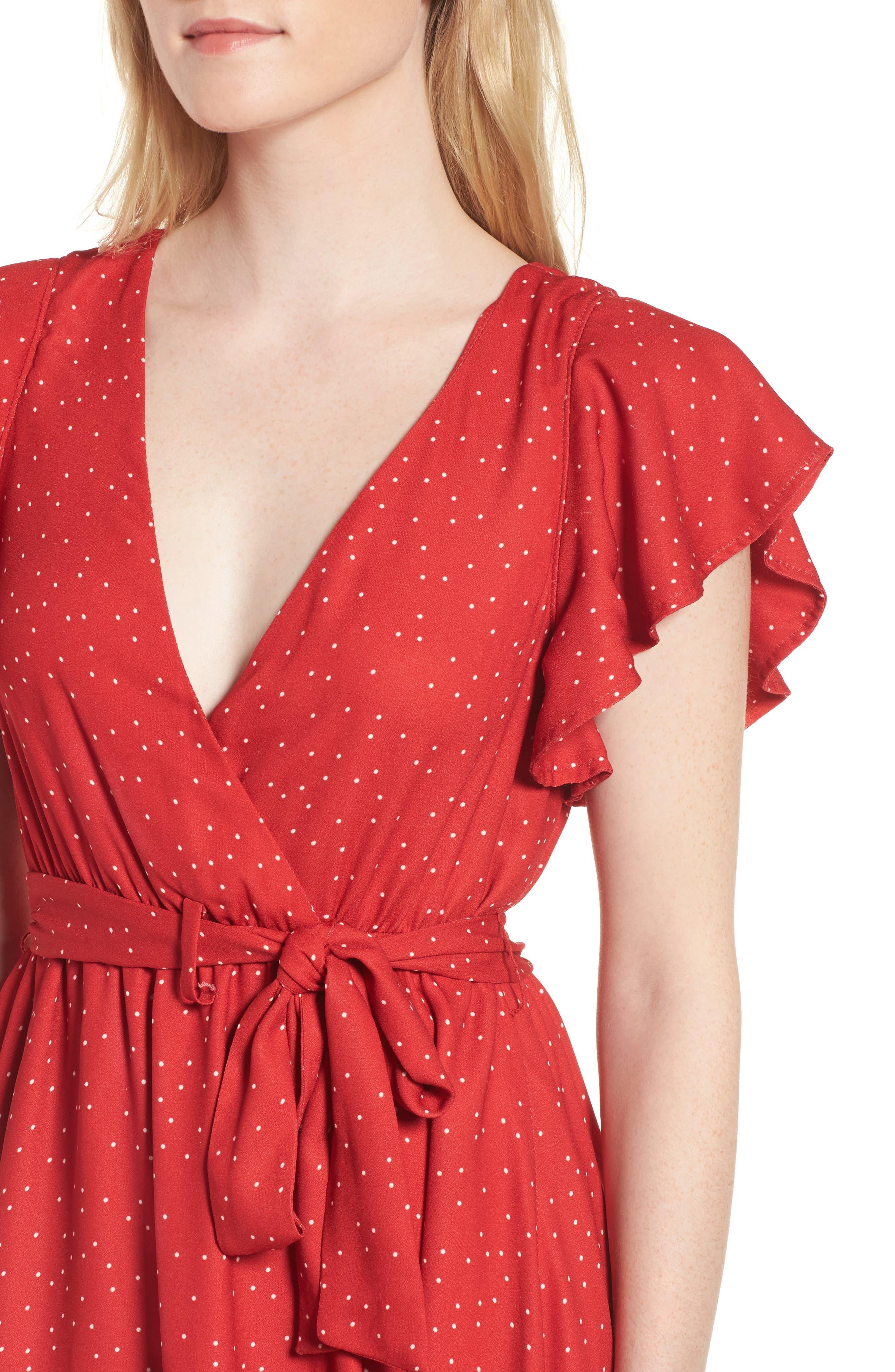 Alternate Image 4  - McGuire Bassinger Faux Wrap High/Low Dress