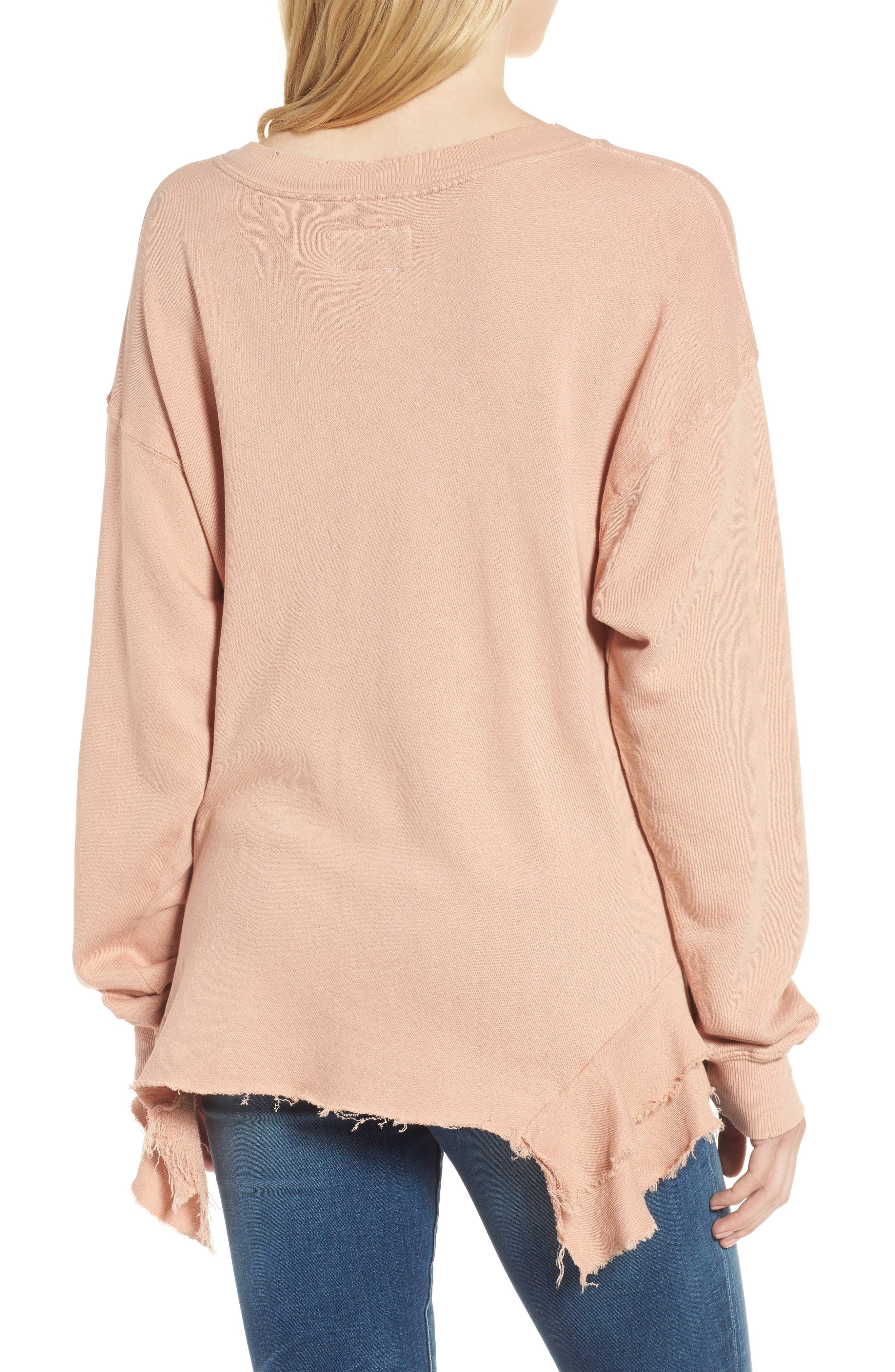 Alternate Image 2  - Current/Elliott The Slouchy Ruffle Sweatshirt