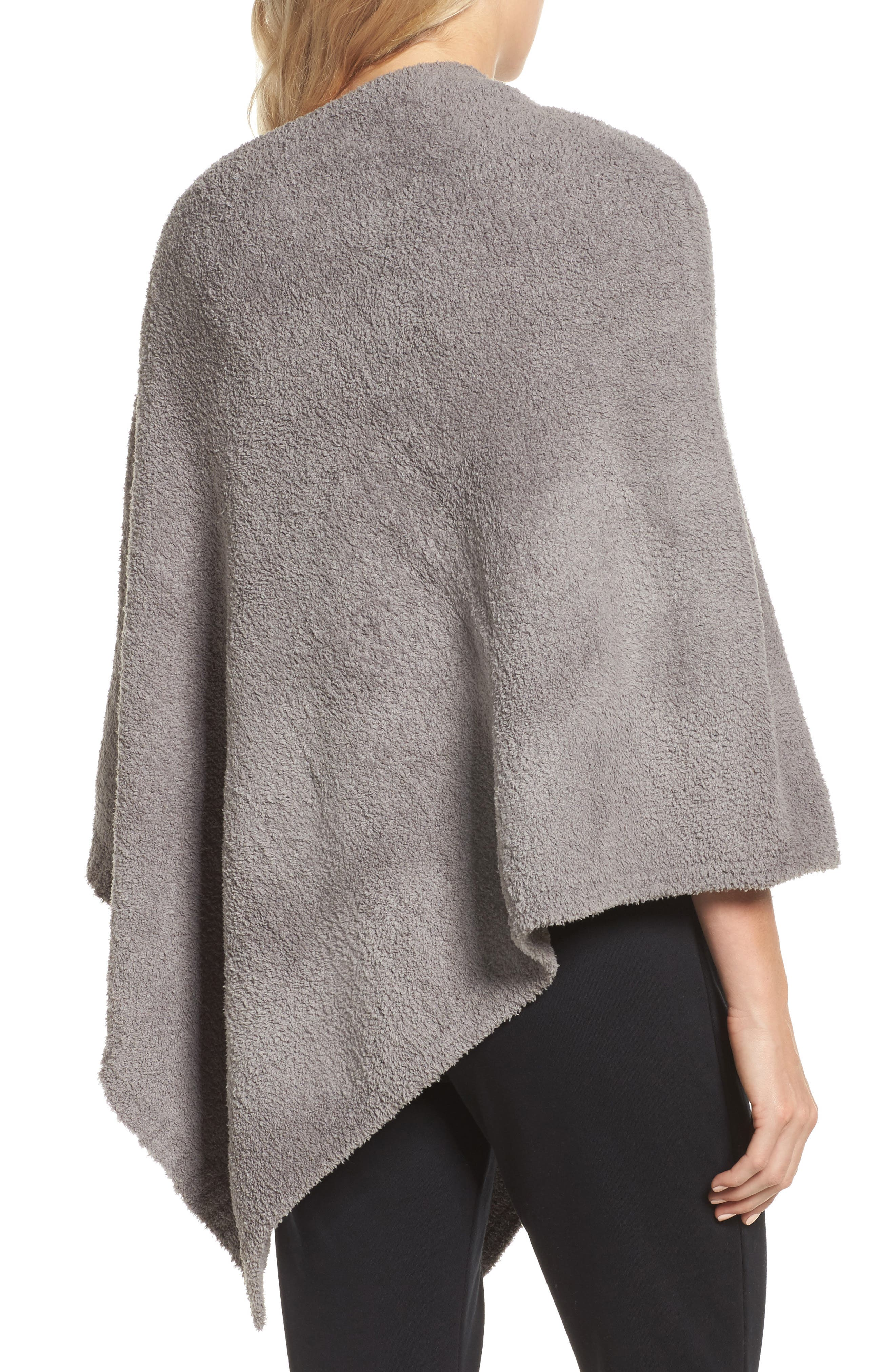 Boatneck CozyChic<sup>®</sup> Poncho,                             Alternate thumbnail 2, color,                             Warm Grey