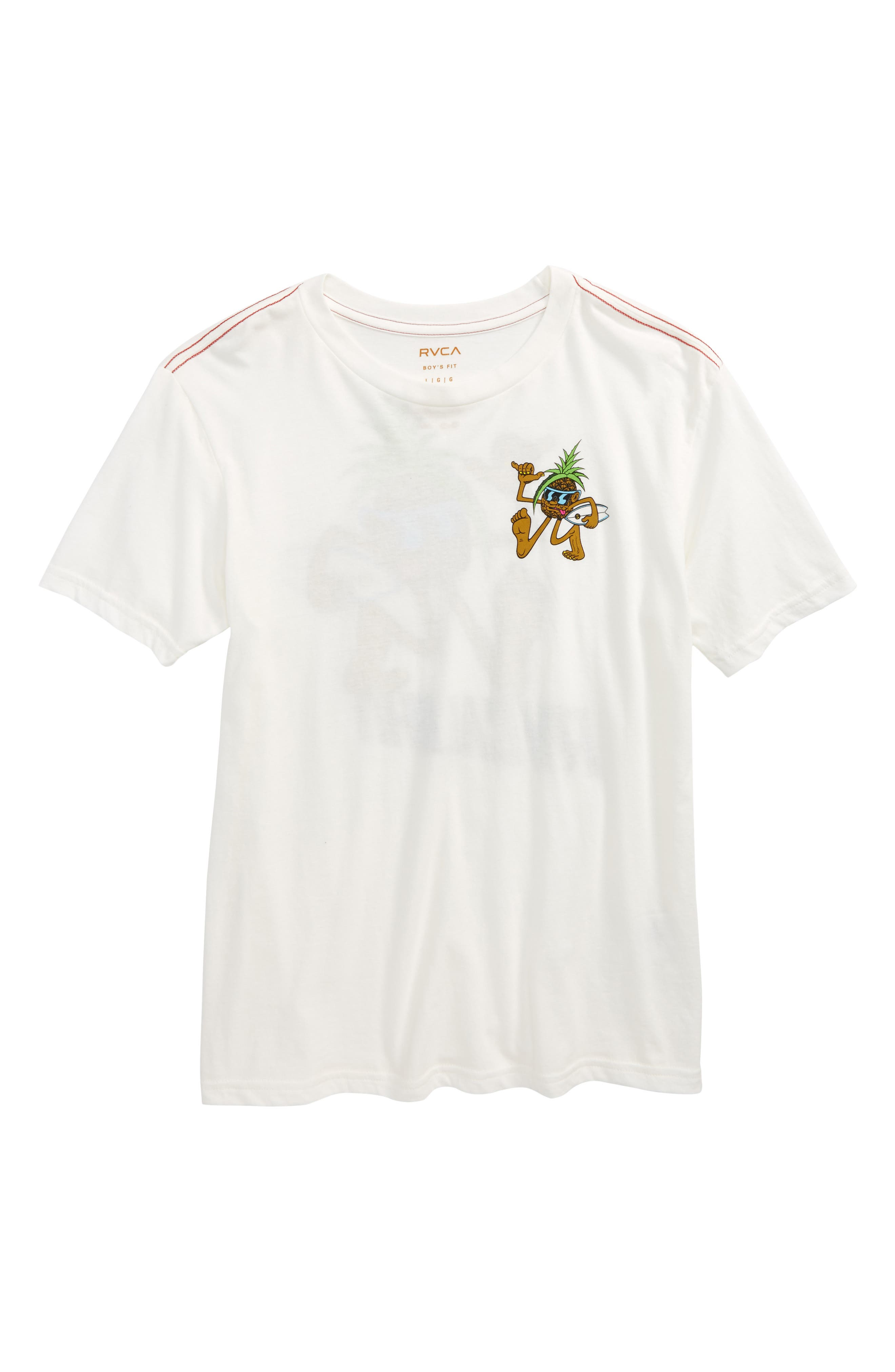 Aloha Pineapple Graphic T-Shirt,                         Main,                         color, Antique White