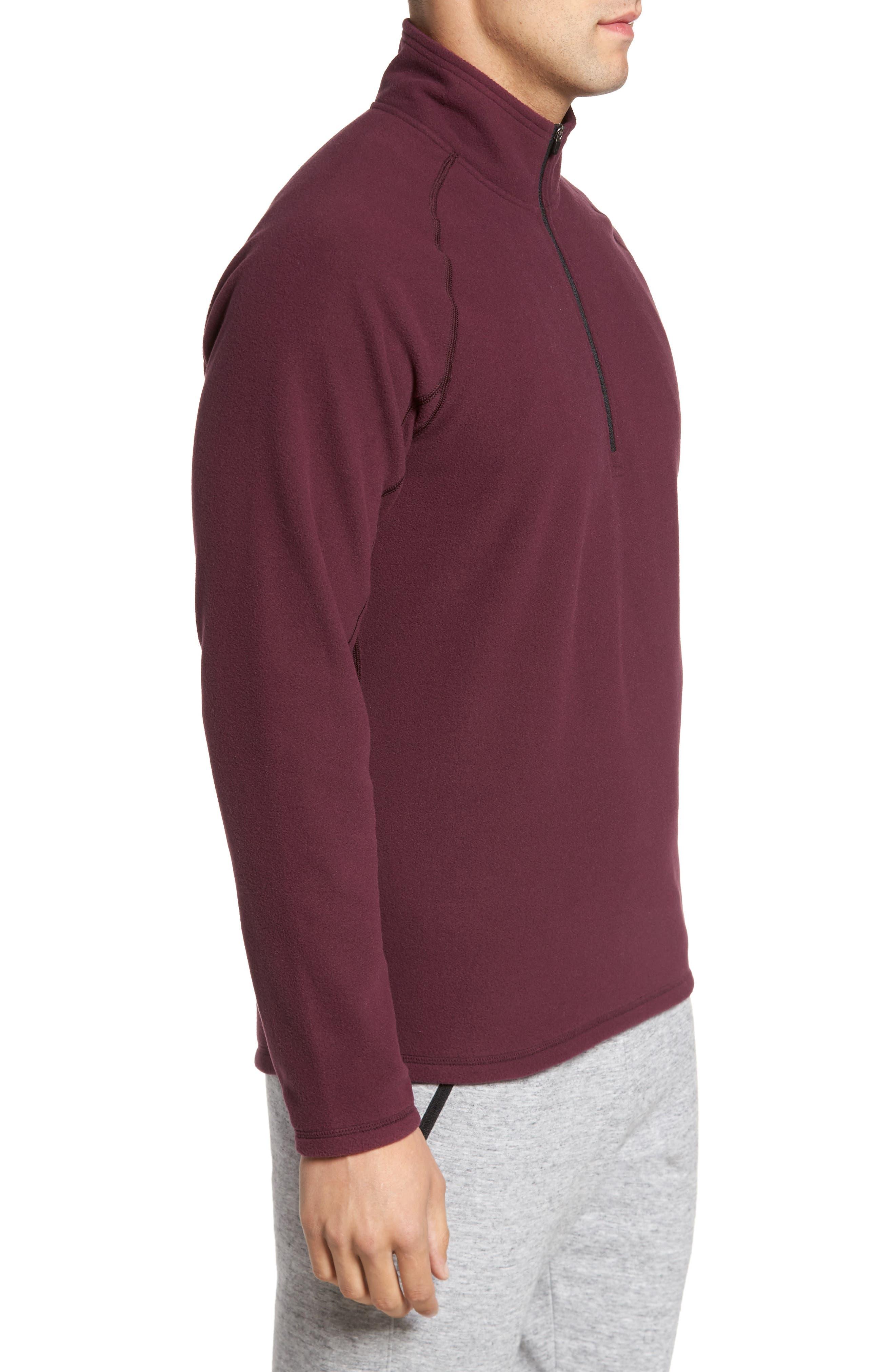 Alternate Image 3  - Zella Quarter Zip Fleece Pullover