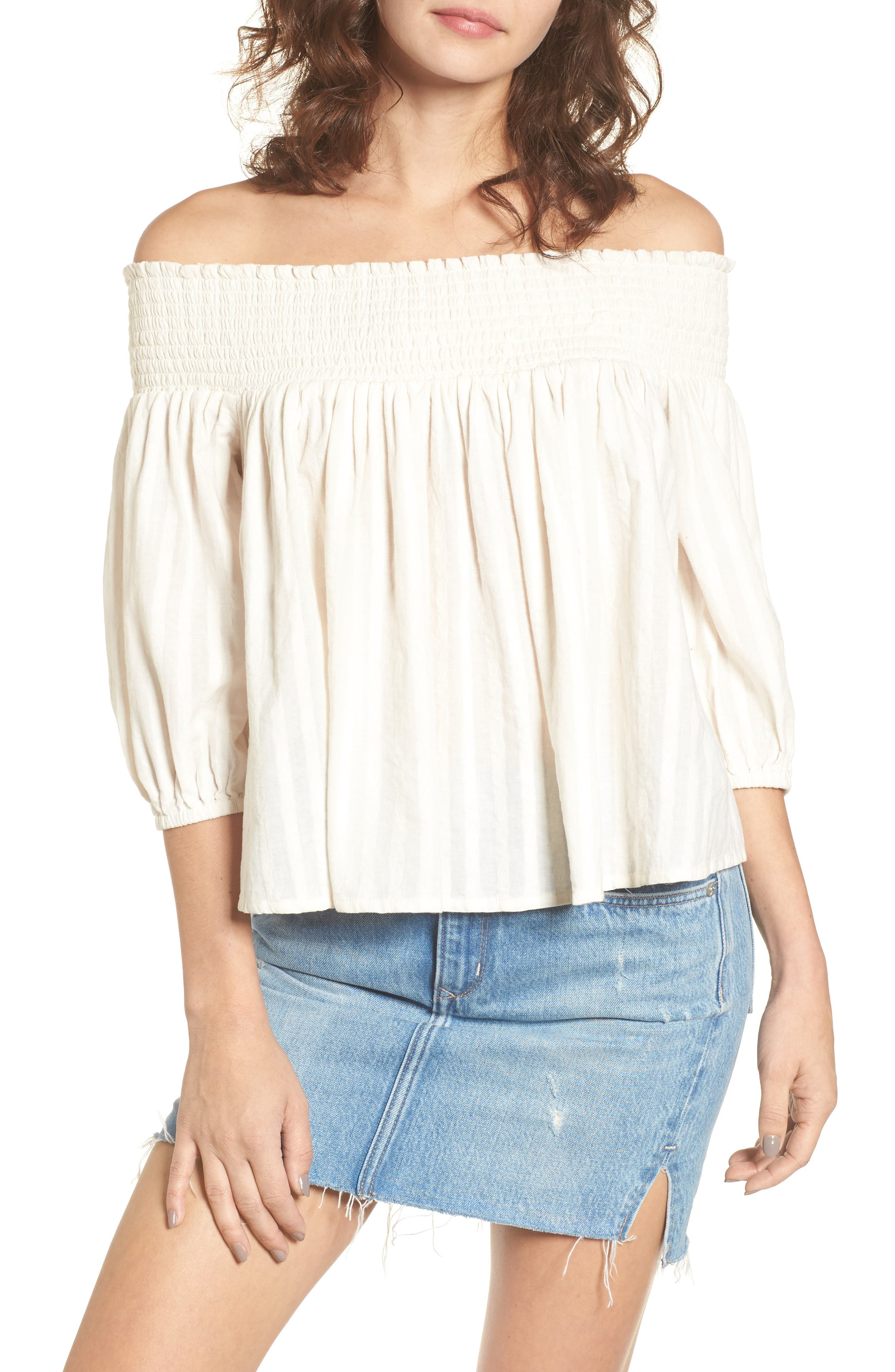 Main Image - Rip Curl South Shore Off the Shoulder Top