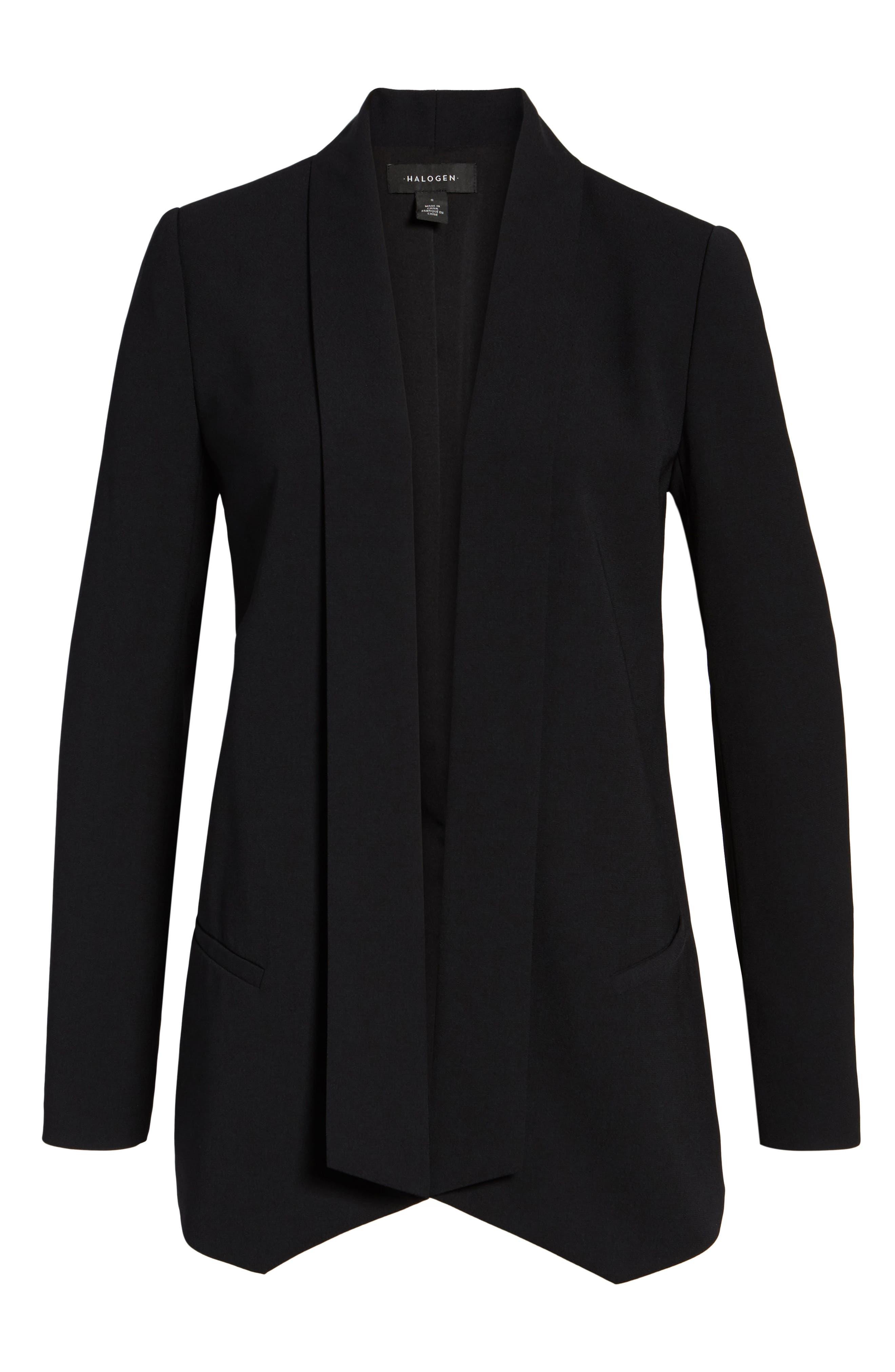Shawl Collar Blazer,                             Alternate thumbnail 6, color,                             Black