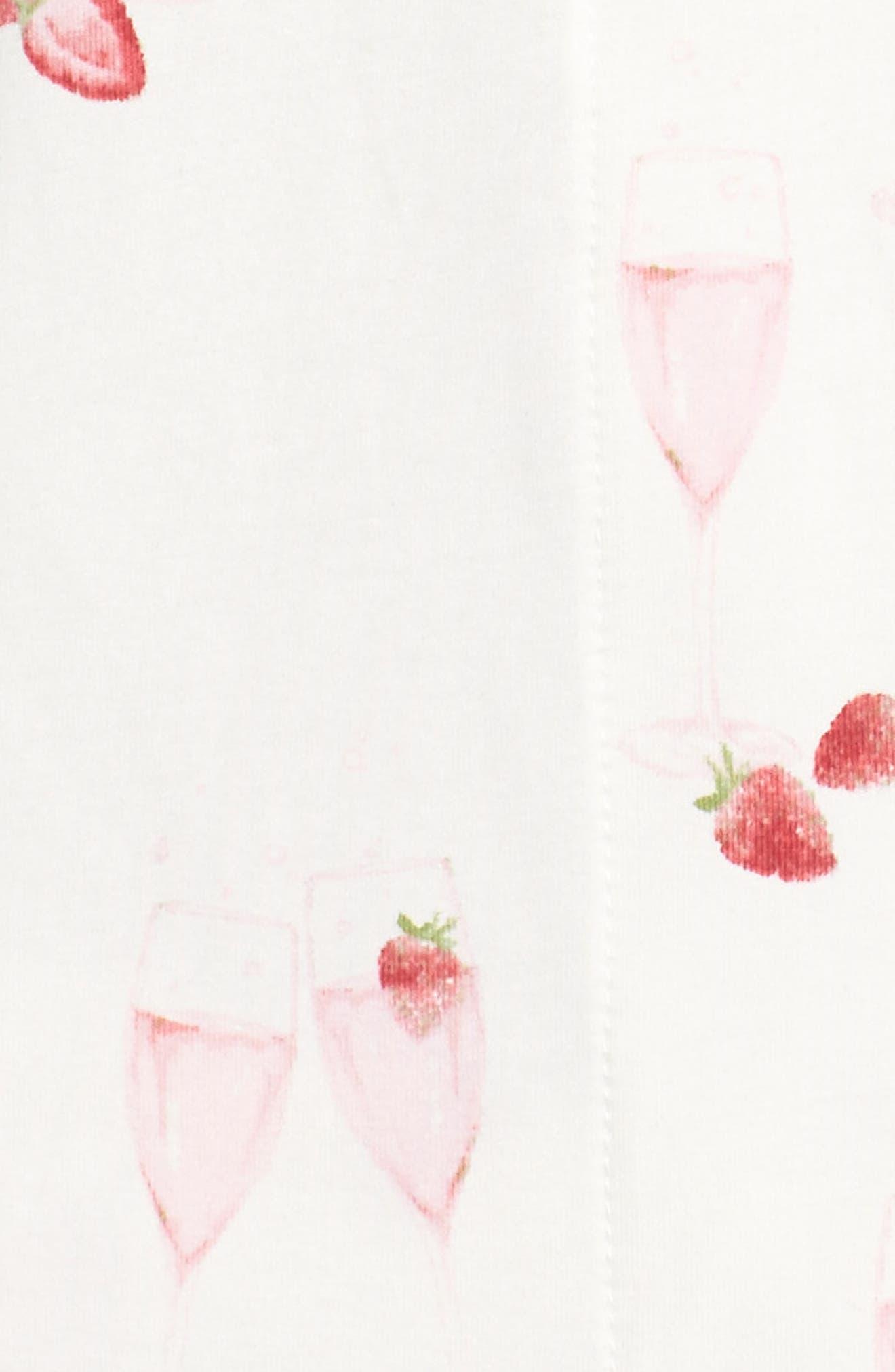 Strawberries & Champagne Print Pajamas,                             Alternate thumbnail 6, color,                             Strawberries And Champagne