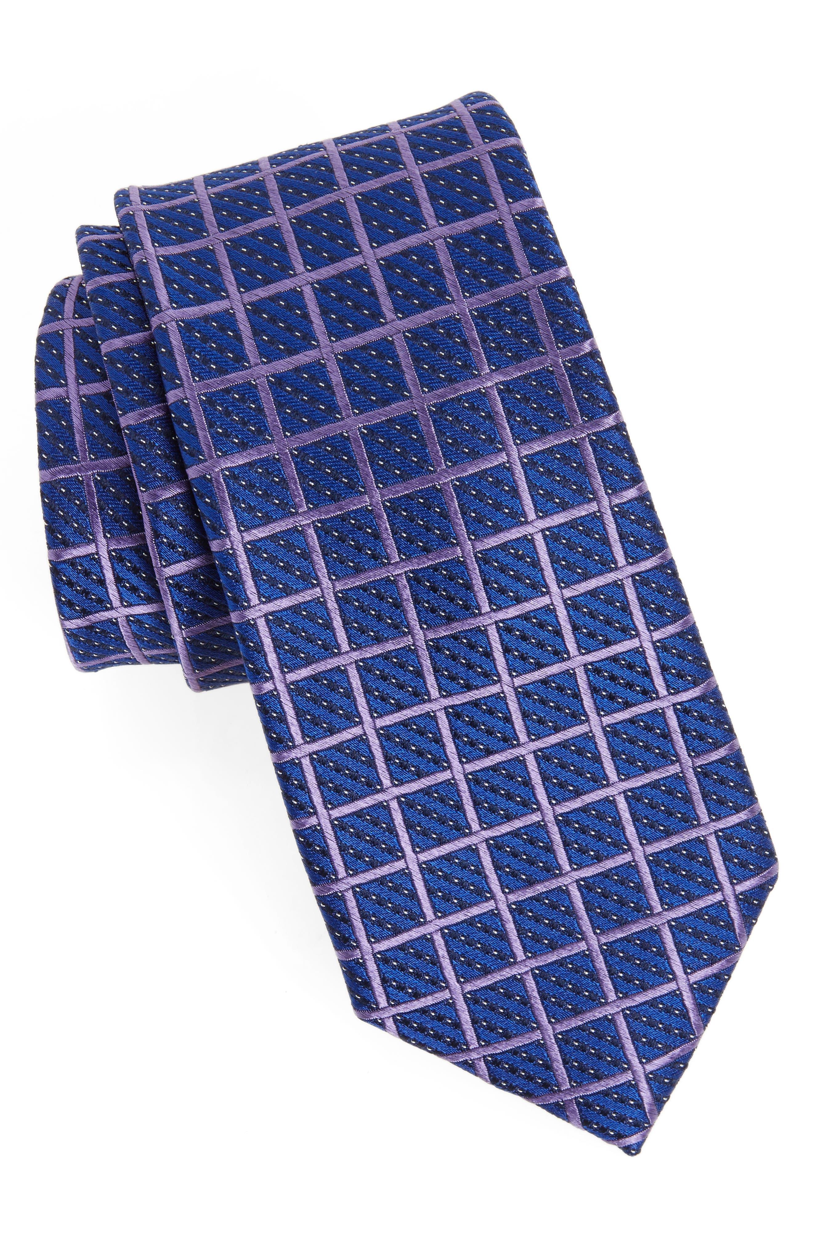 Main Image - Nordstrom Men's Shop Tattersall Silk Tie