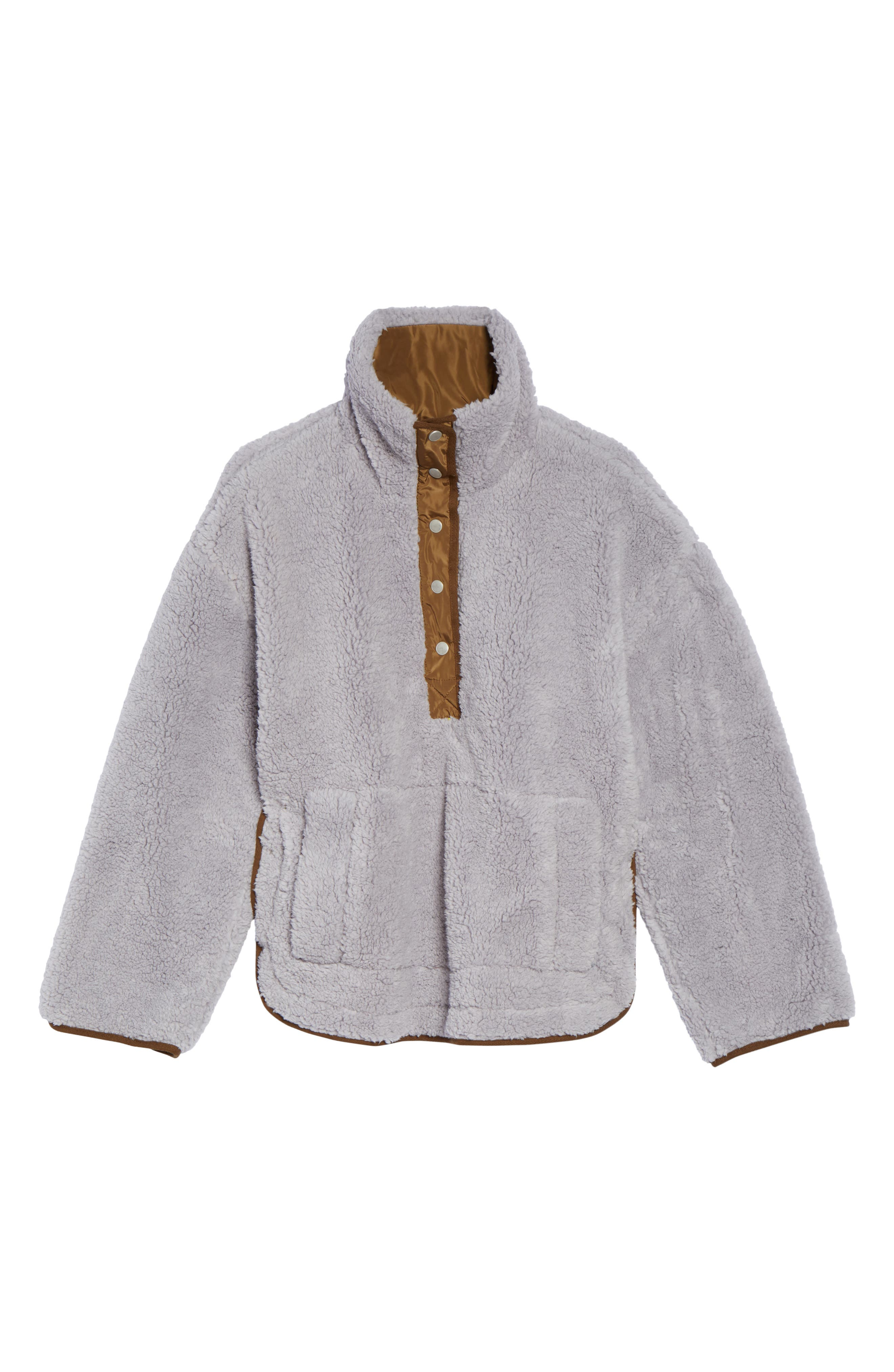 Free People Oh So Cozy Fleece Pullover,                             Alternate thumbnail 8, color,                             Grey