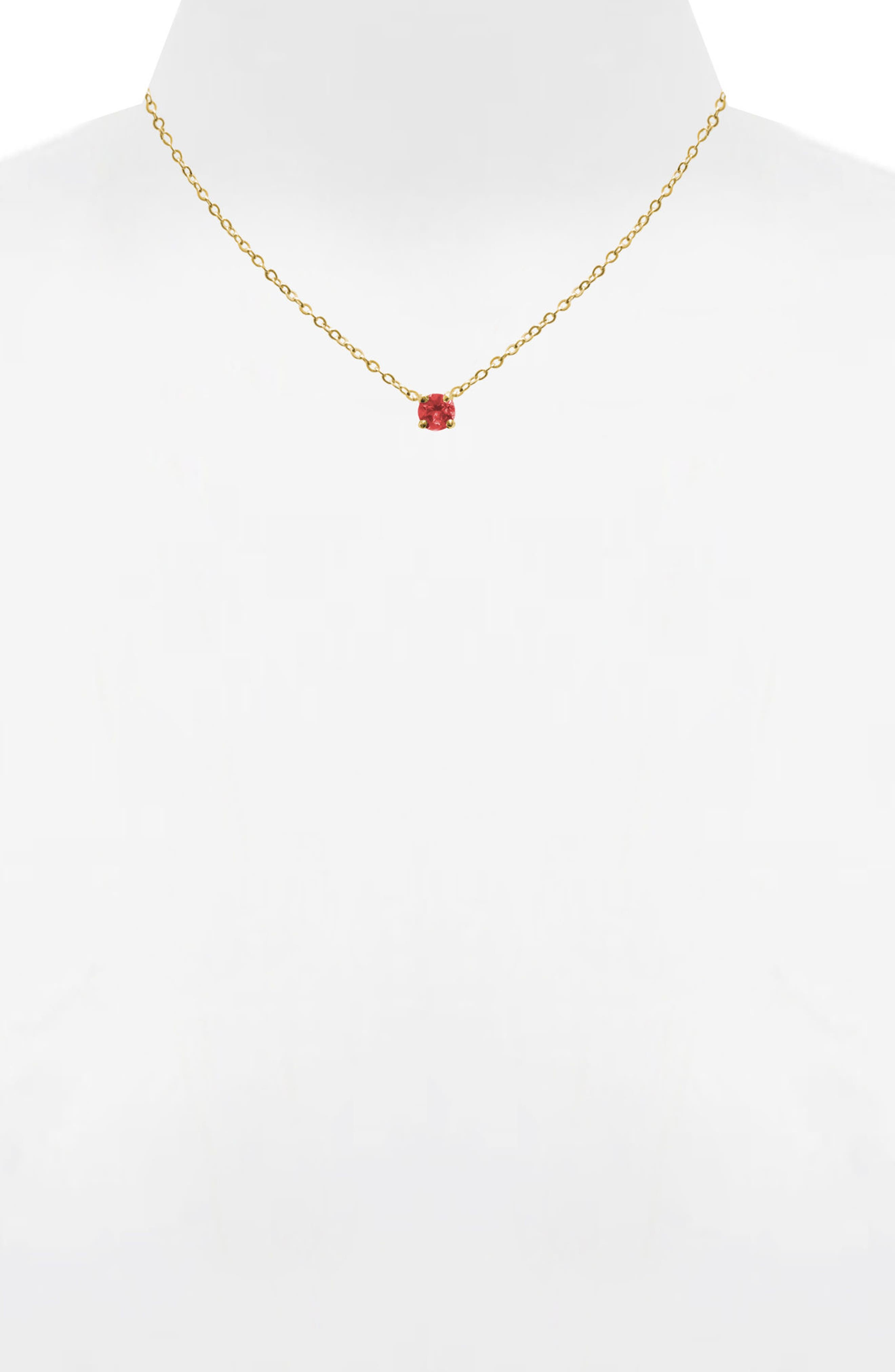 Jane Basch Birthstone Pendant Necklace,                             Alternate thumbnail 2, color,                             Garnet/ January