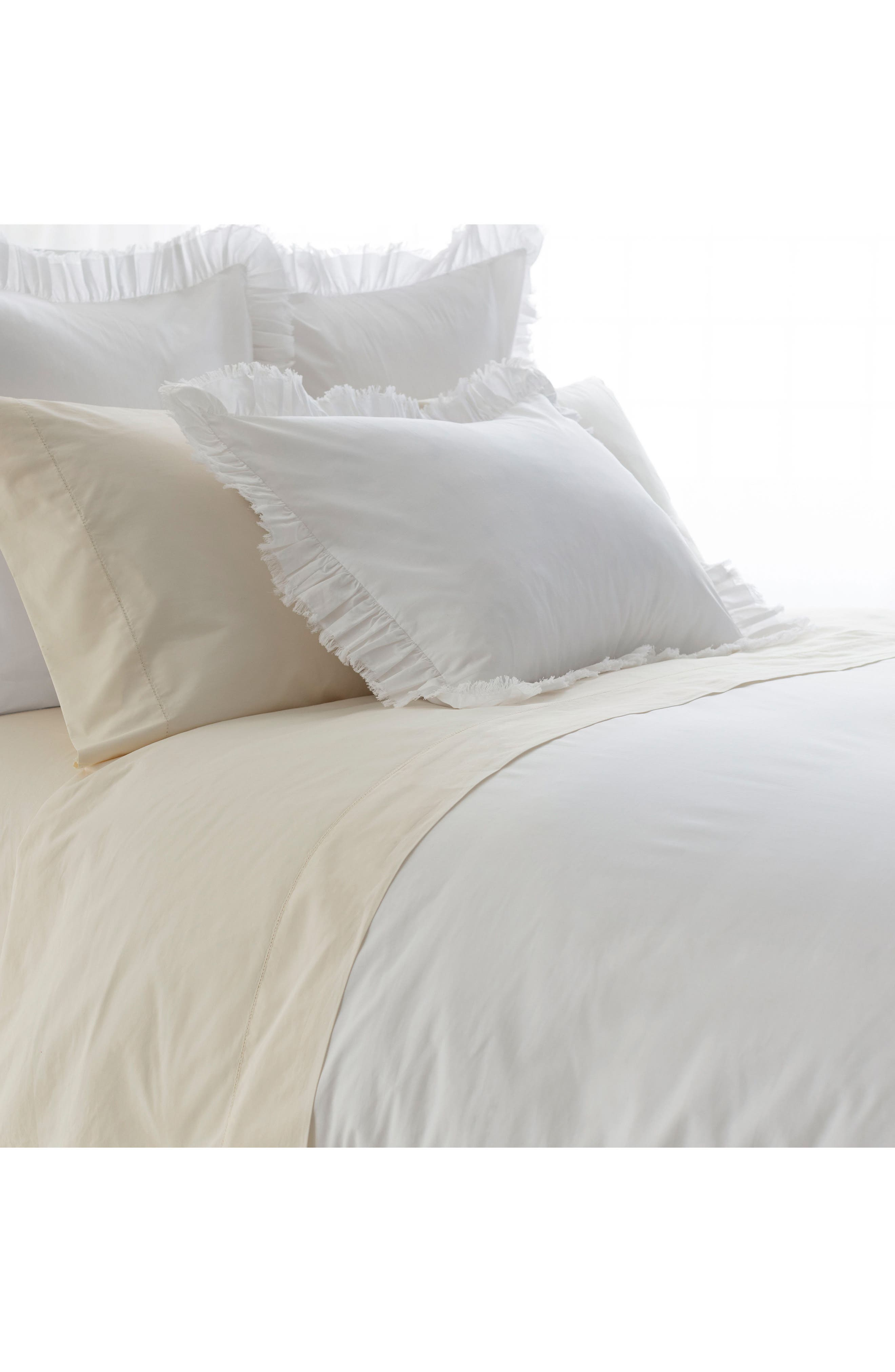 Ruffle Duvet Cover,                         Main,                         color, White
