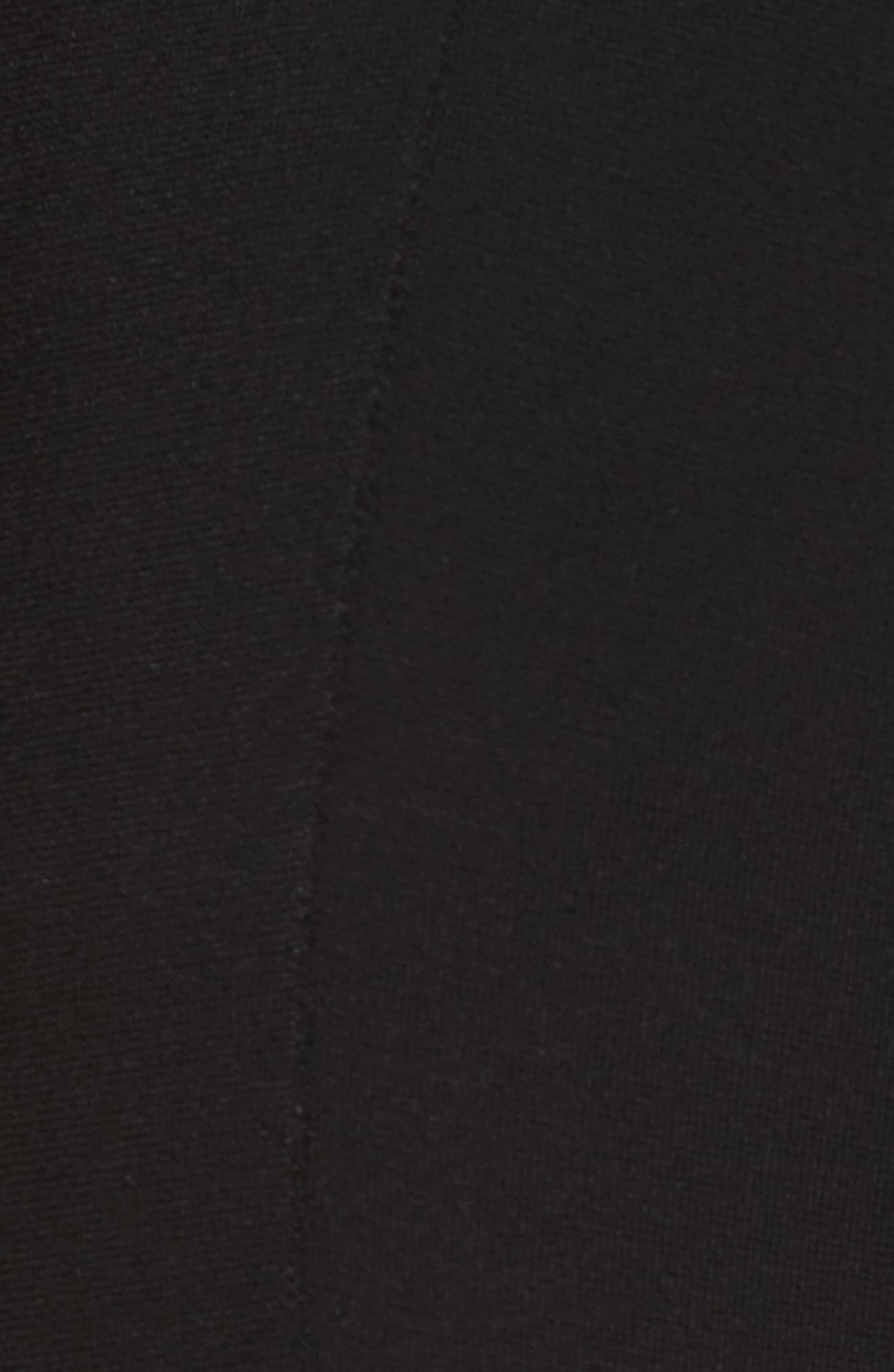 Compact Knit Crop Flare Pants,                             Alternate thumbnail 5, color,                             Black