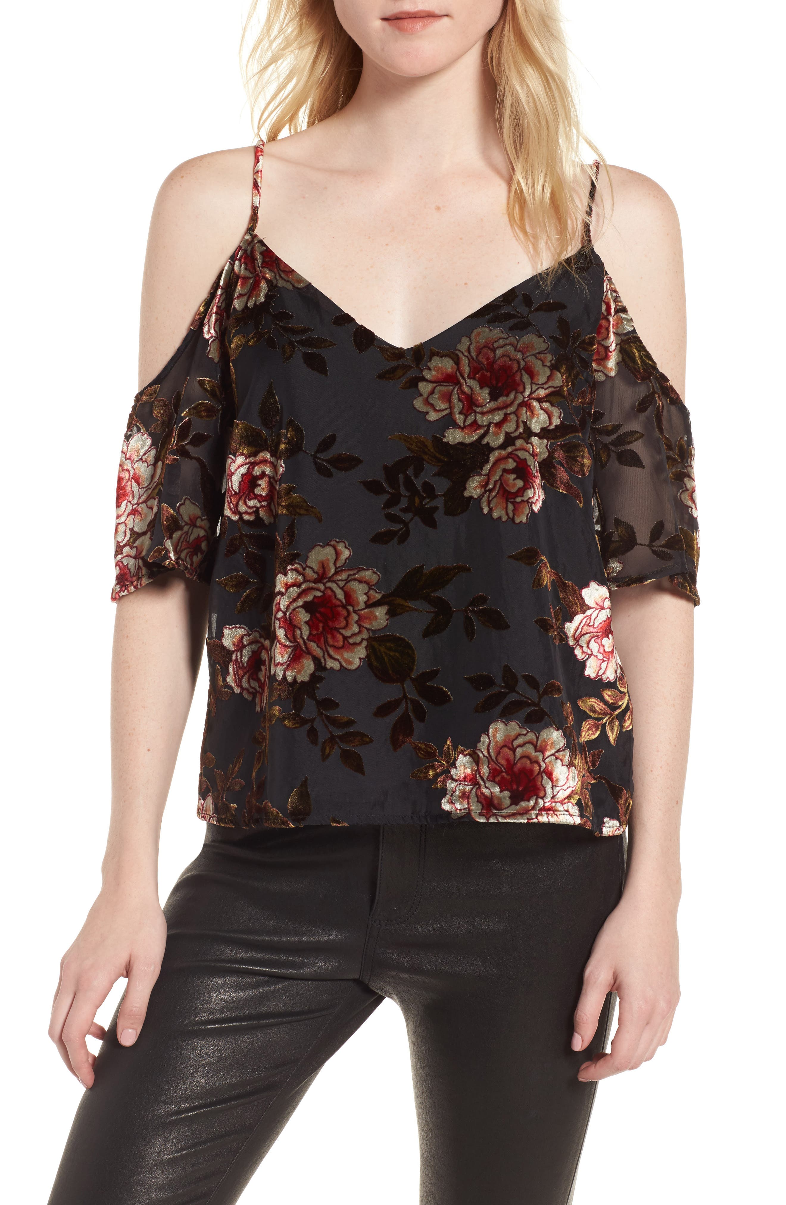 Main Image - cupcakes and cashmere Jovelyn Off the Shoulder Top