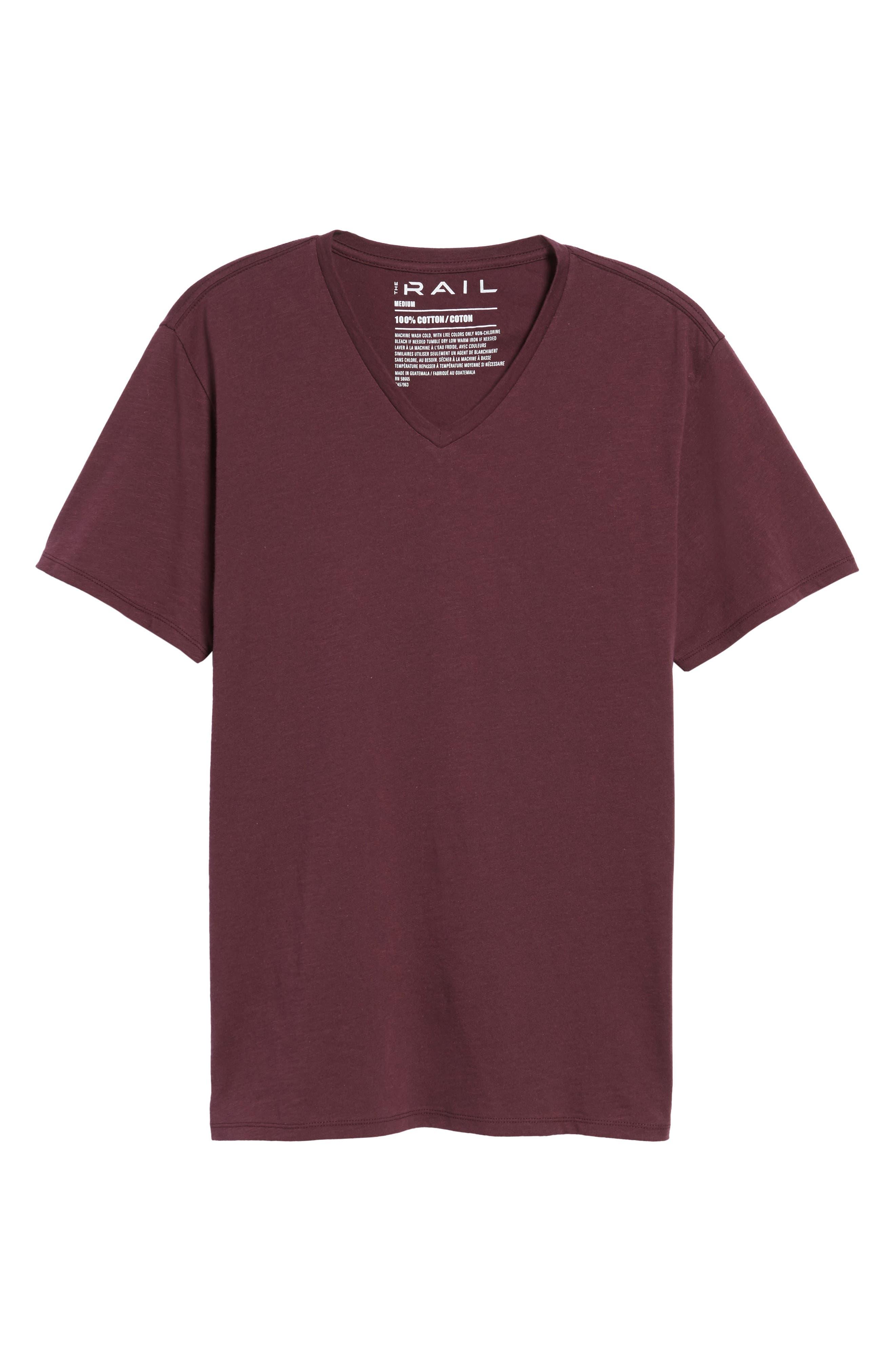 Alternate Image 6  - The Rail Slub Cotton V-Neck T-Shirt (2 for $30)