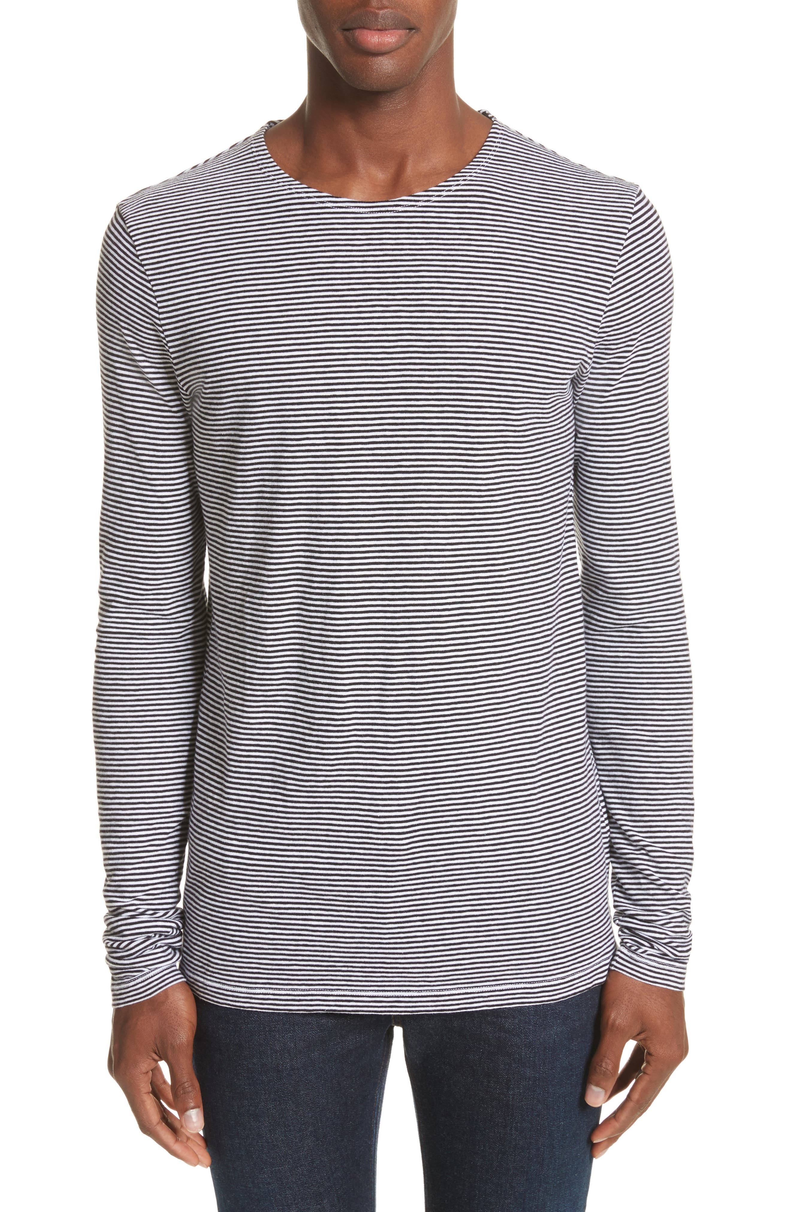 Main Image - Burberry Tayford Stripe Long Sleeve T-Shirt