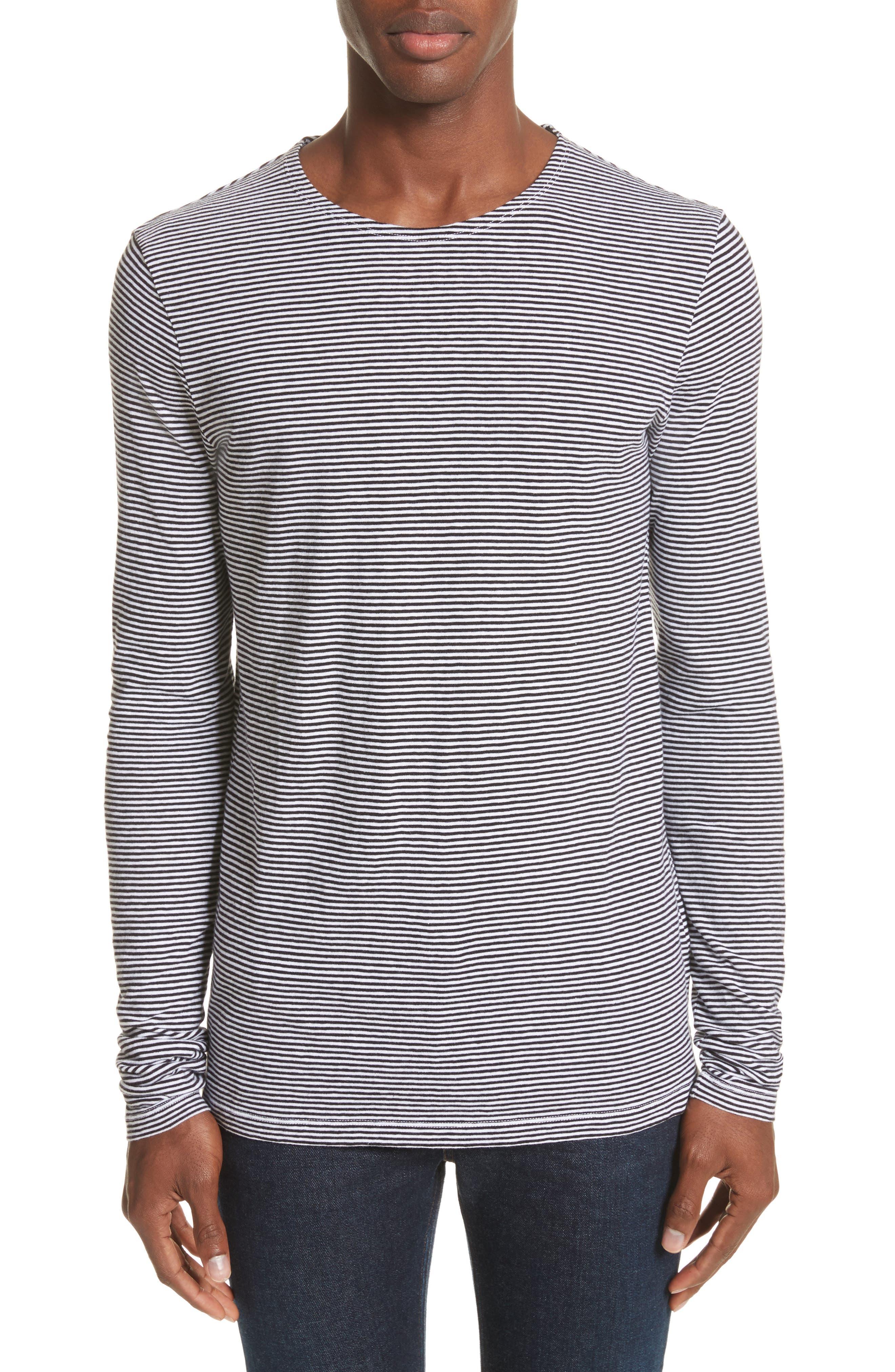 Tayford Stripe Long Sleeve T-Shirt,                         Main,                         color, White/ Black