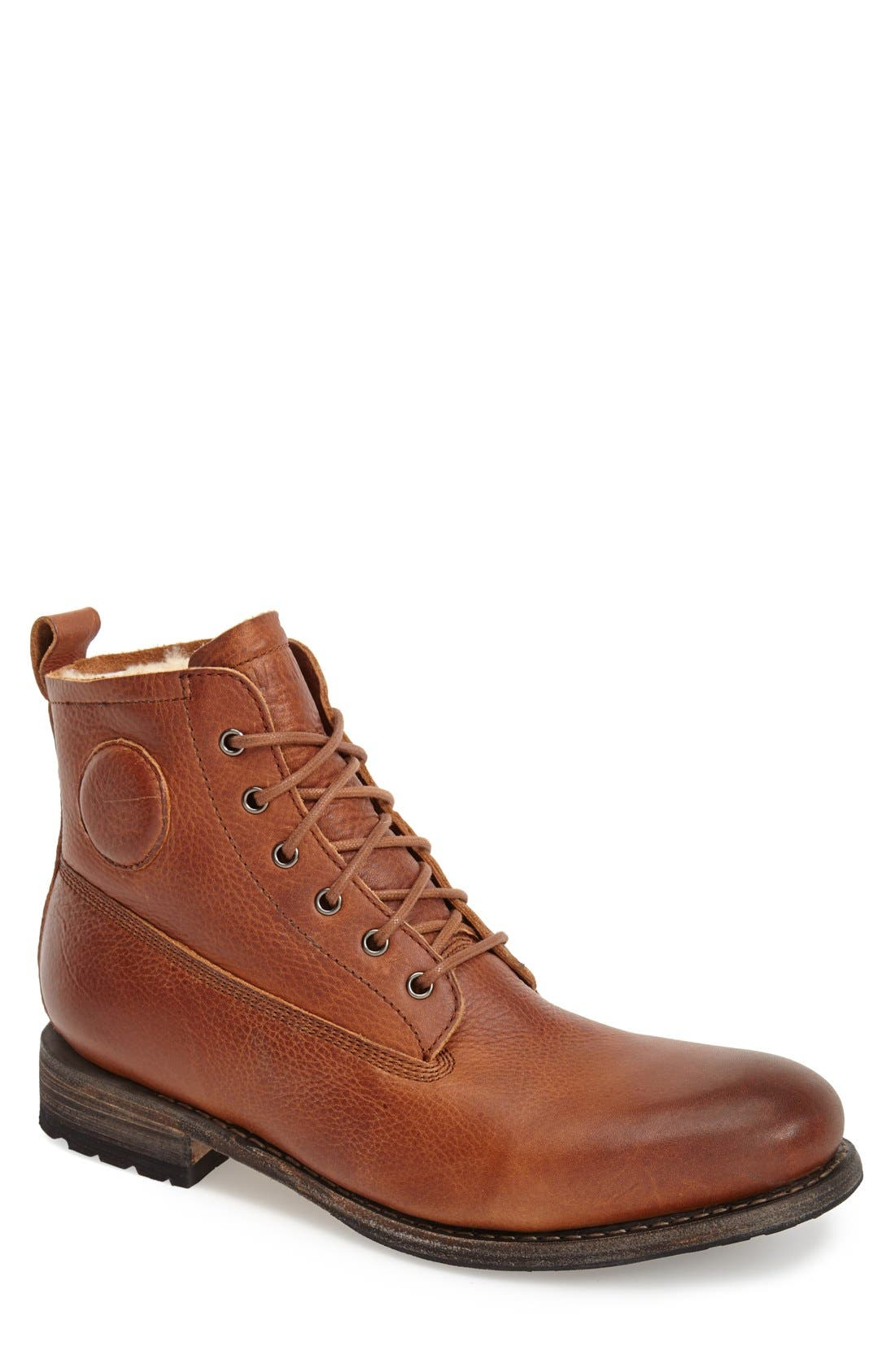 'Gull' Plain Toe Boot,                             Main thumbnail 1, color,                             Cuoio