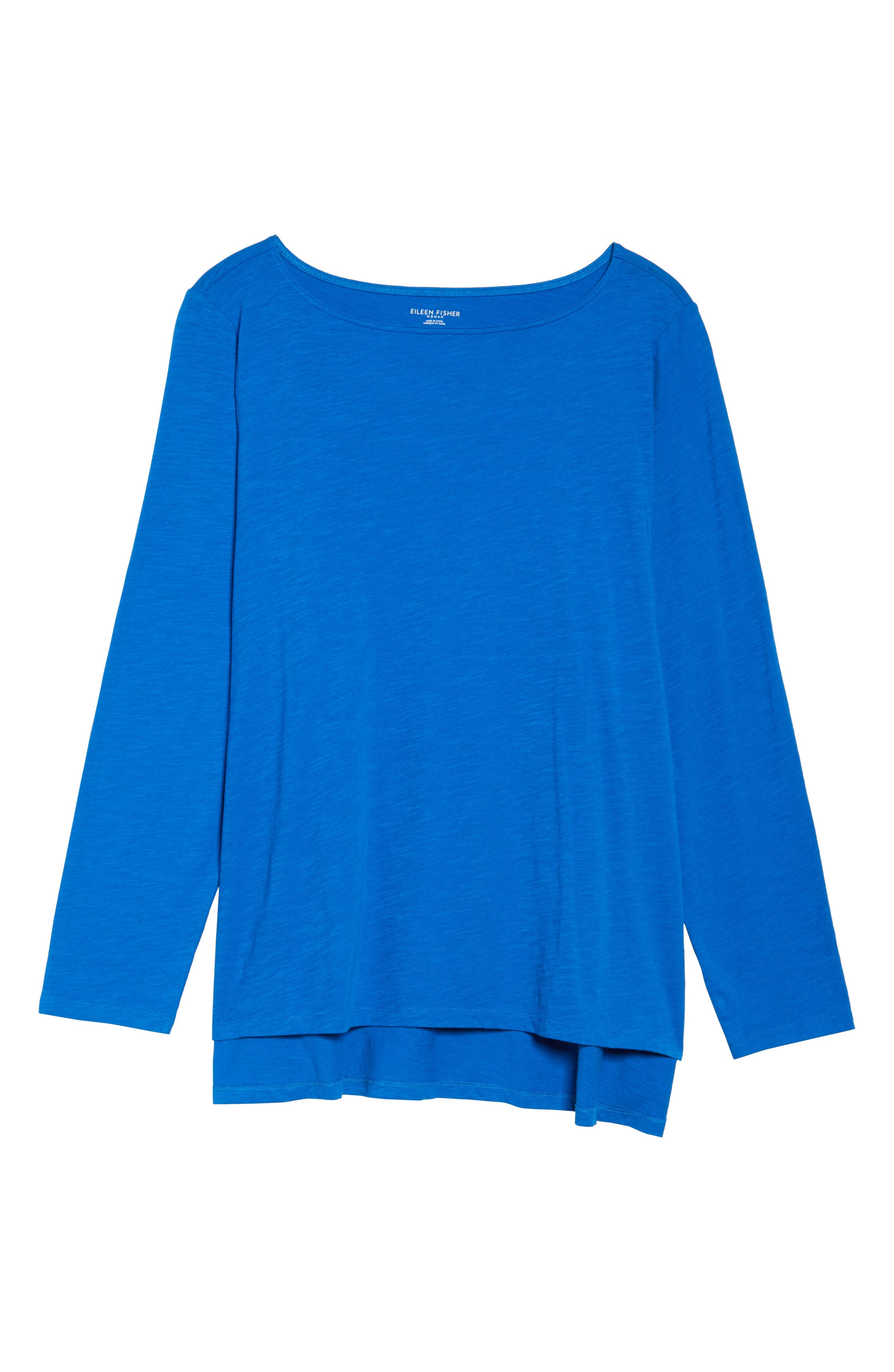 Organic Cotton Jersey Top,                             Alternate thumbnail 6, color,                             Blue
