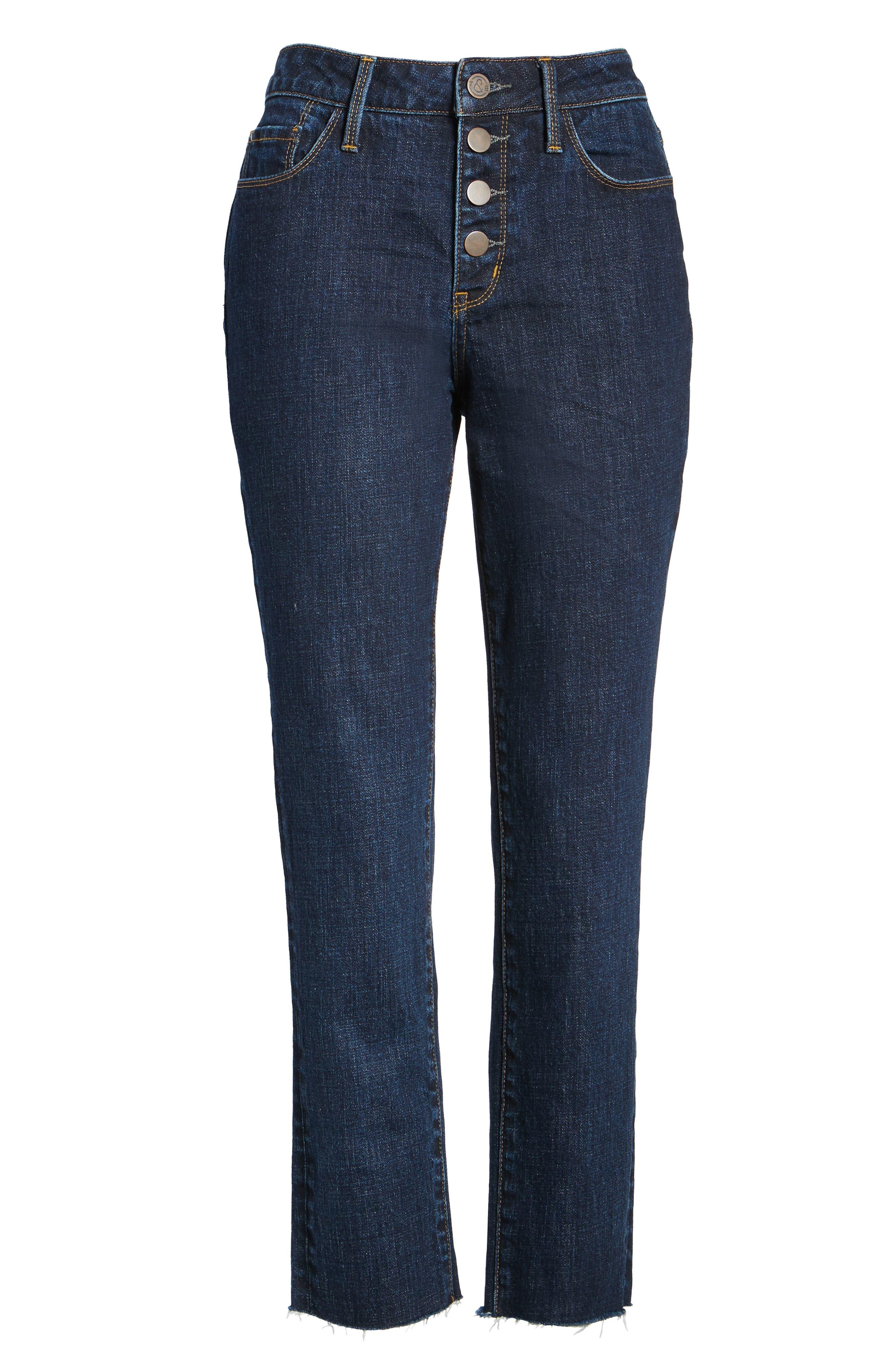 Alternate Image 6  - Treasure & Bond Bond Loose Fit Skinny Ankle Jeans (Granite Dark Vintage)