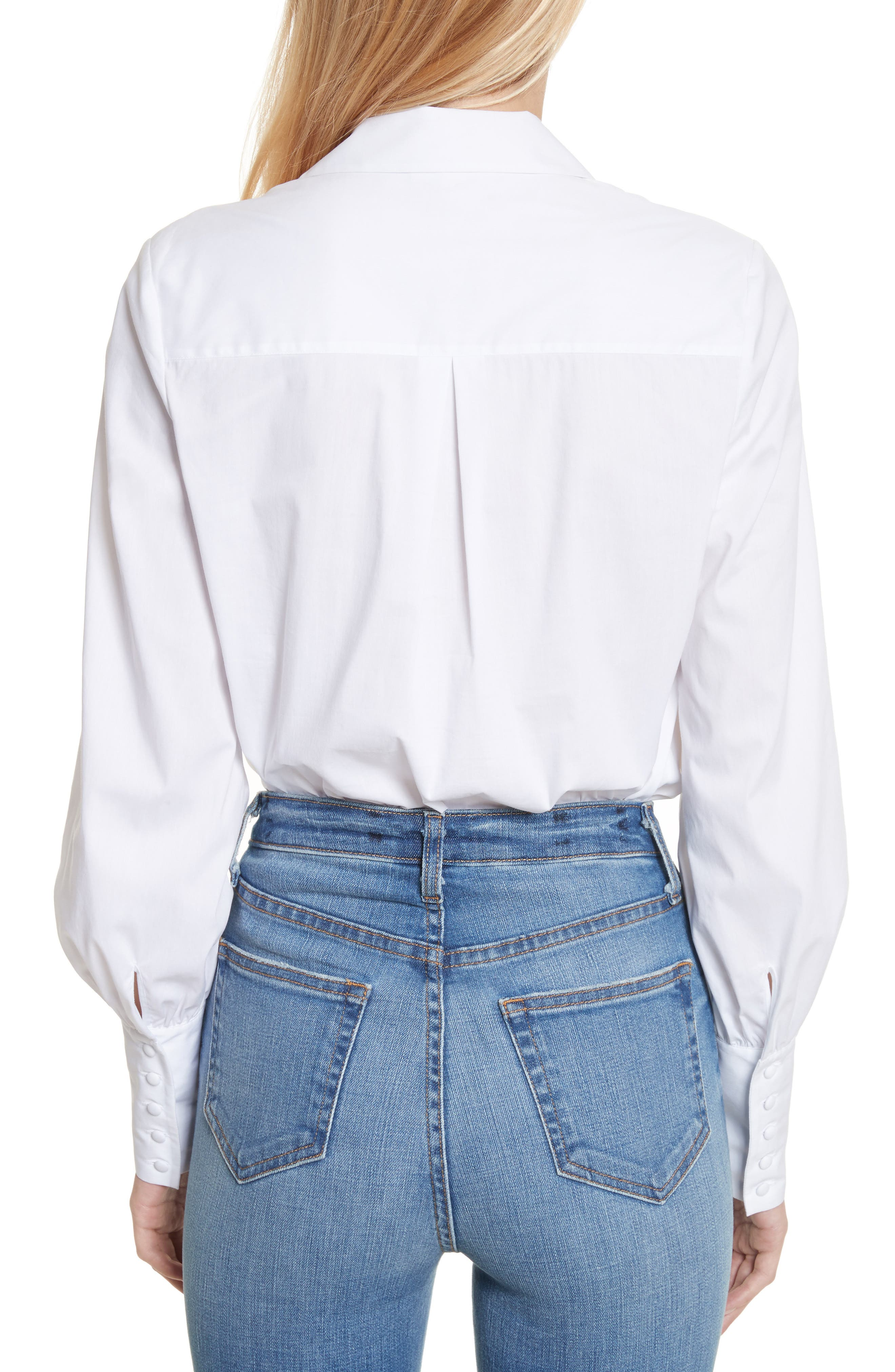 Puff Sleeve Shirt,                             Alternate thumbnail 2, color,                             White