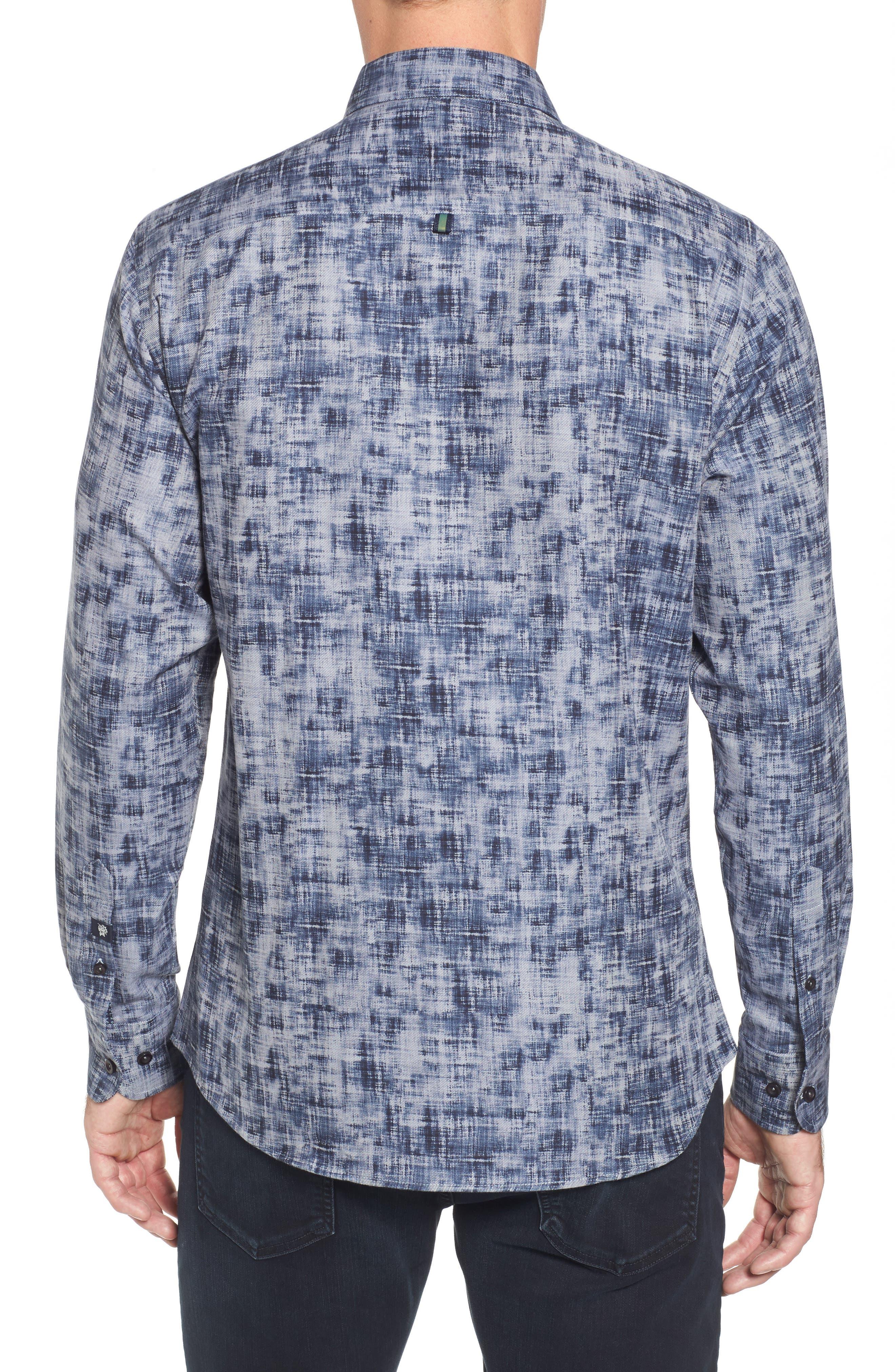 Alternate Image 2  - Stone Rose Slim Fit Twill FX Print Sport Shirt