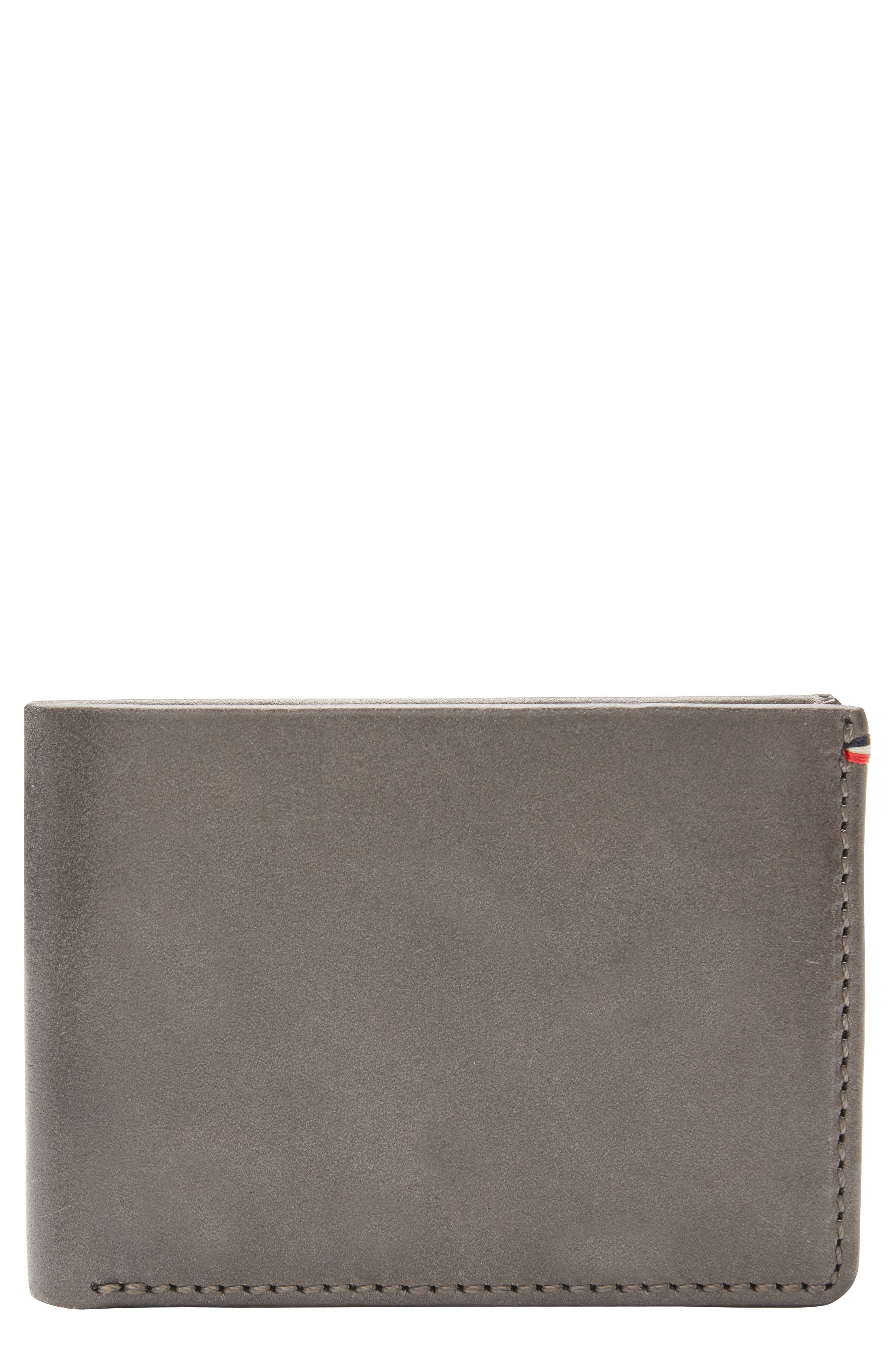 Core Slim Bifold Leather Wallet,                             Main thumbnail 1, color,                             Grey