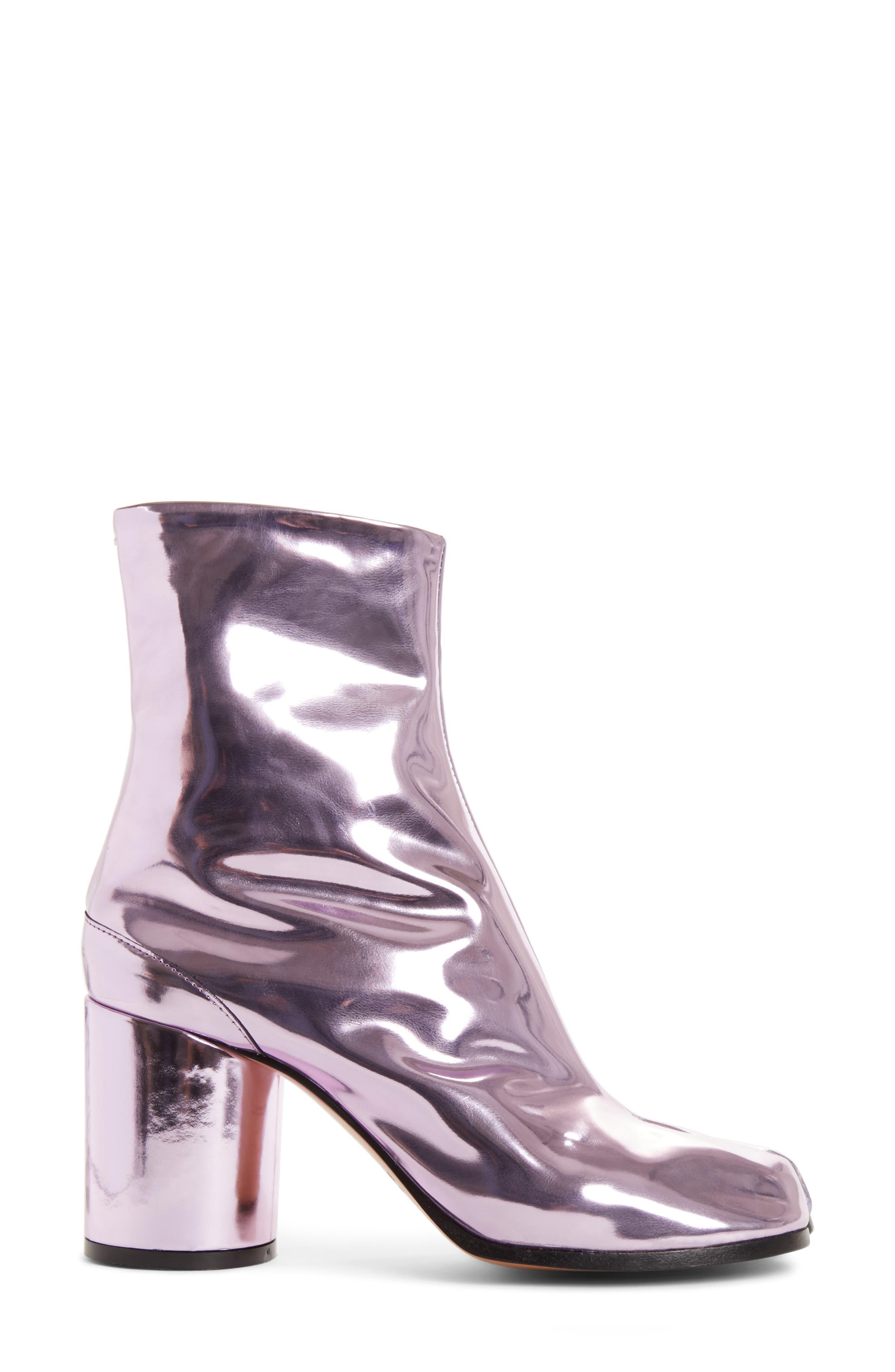 Tabi Metallic Ankle Boot,                             Alternate thumbnail 3, color,                             Pink