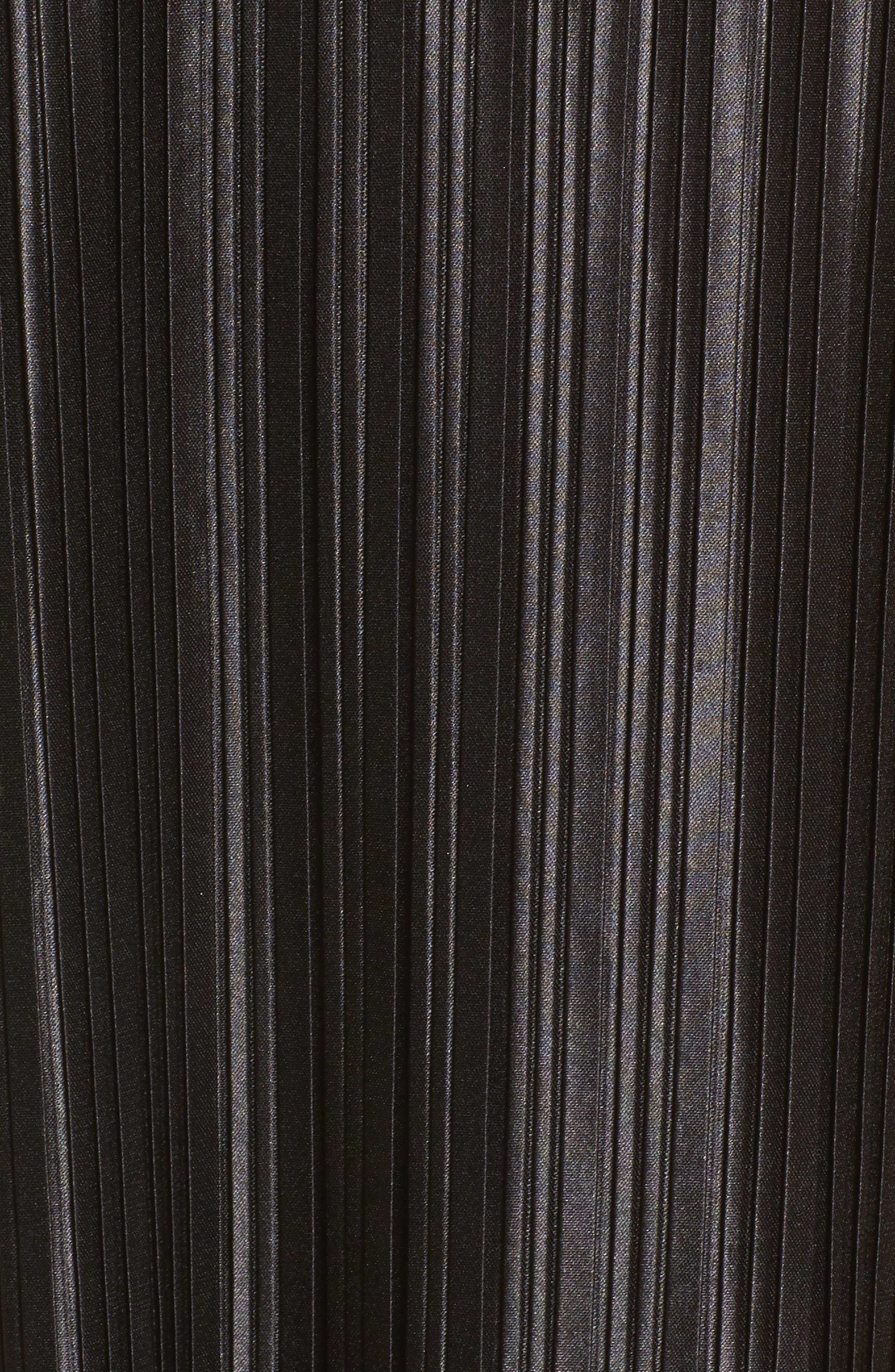 Just Pleat It Slipdress,                             Alternate thumbnail 5, color,                             Black